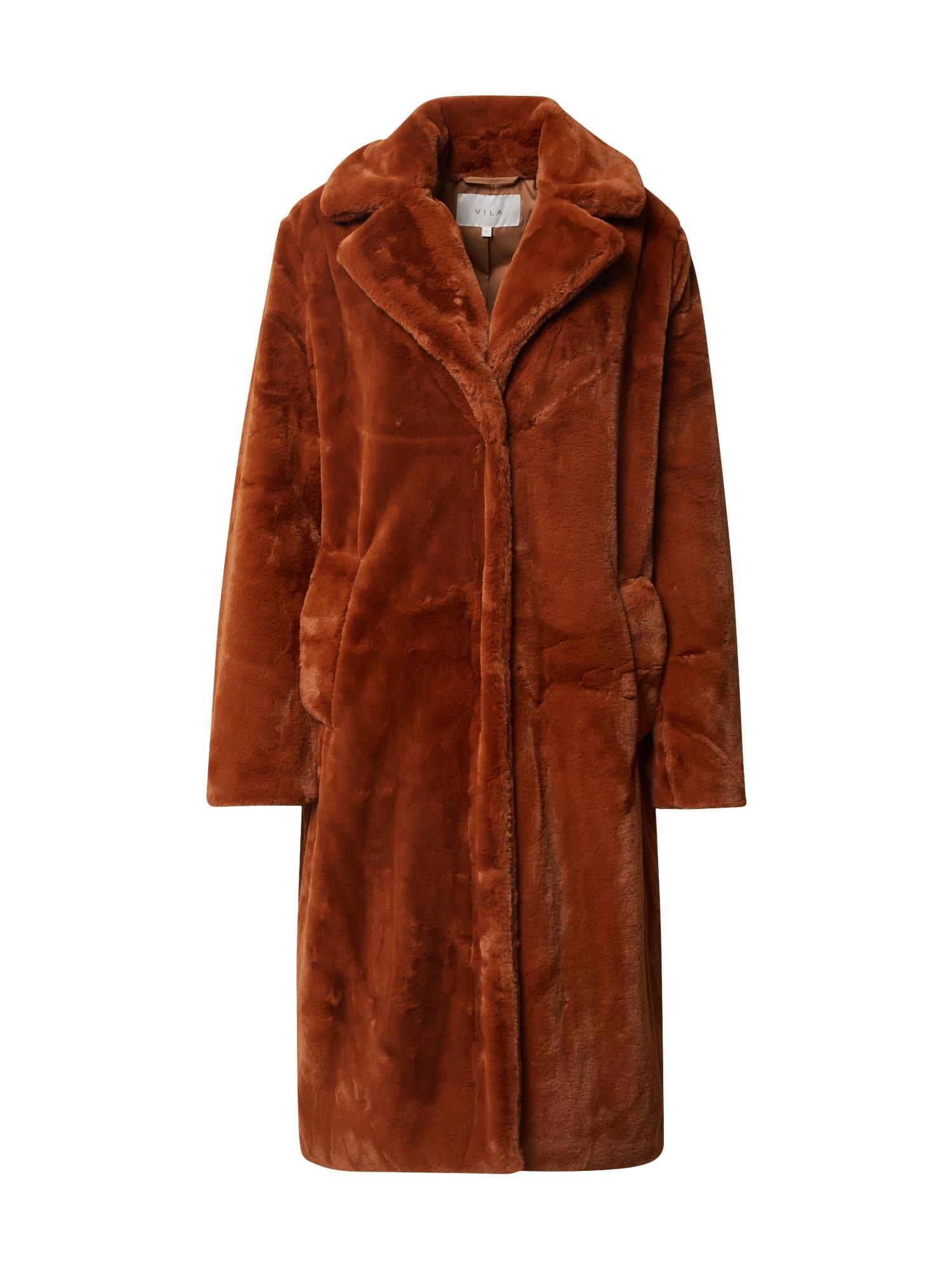 VILA Zimní kabát 'Koda'  hnědá