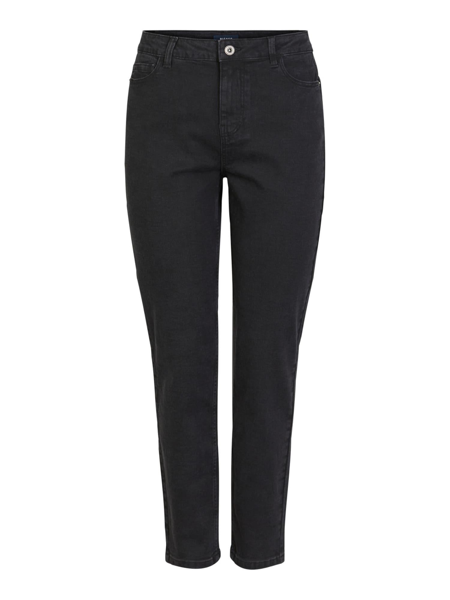 PIECES Džinsai juodo džinso spalva
