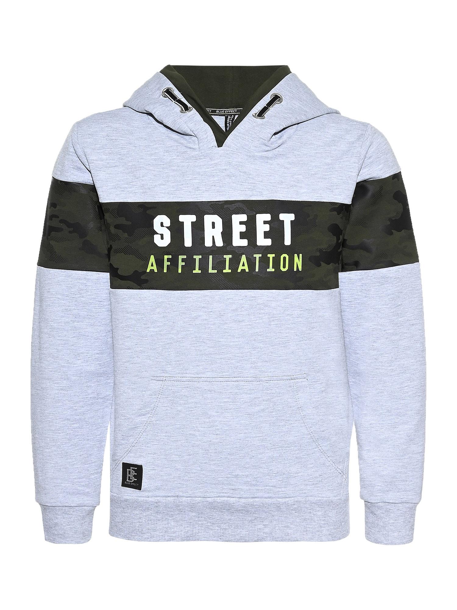 BLUE EFFECT Megztinis be užsegimo 'Street' šviesiai pilka / juoda