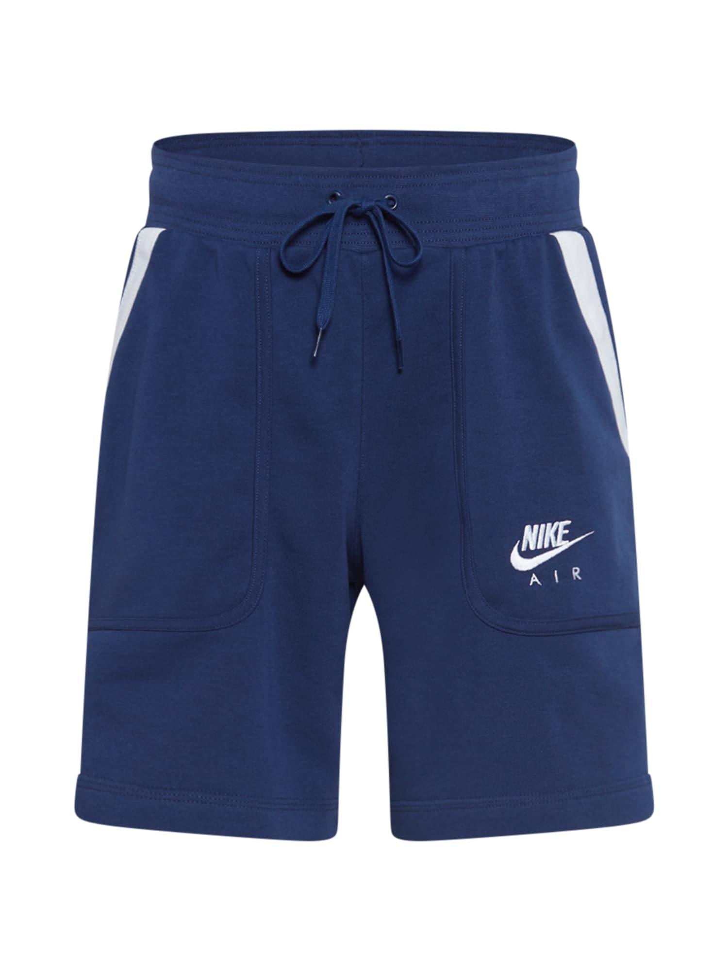 Nike Sportswear Kelnės tamsiai mėlyna / balta