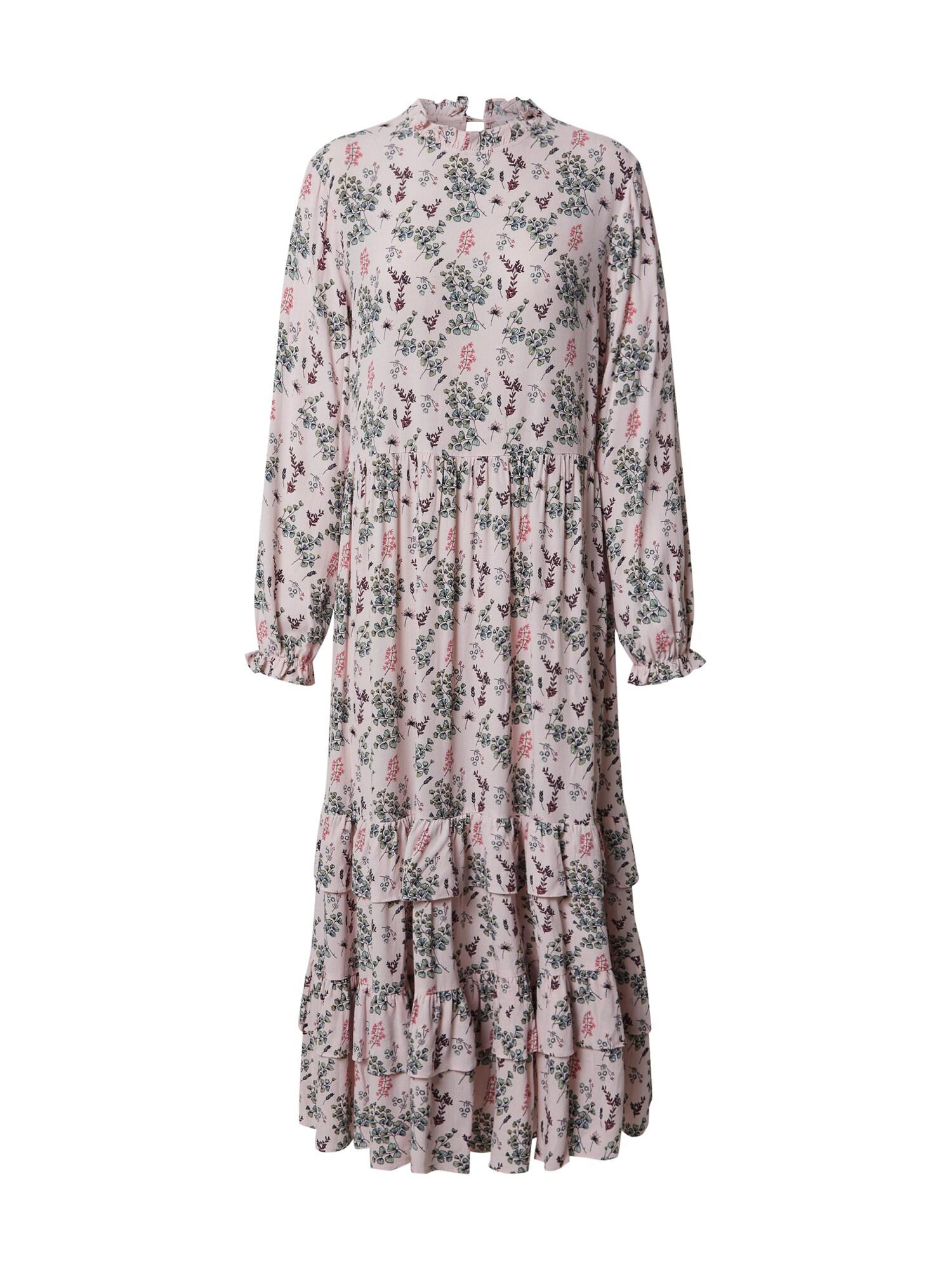 EDITED Palaidinės tipo suknelė 'Pauletta' šviesiai rožinė / žalia