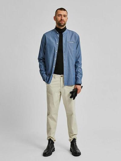 Selected Homme Texas Hemd mit schmaler Passform und Grandad-Kragen