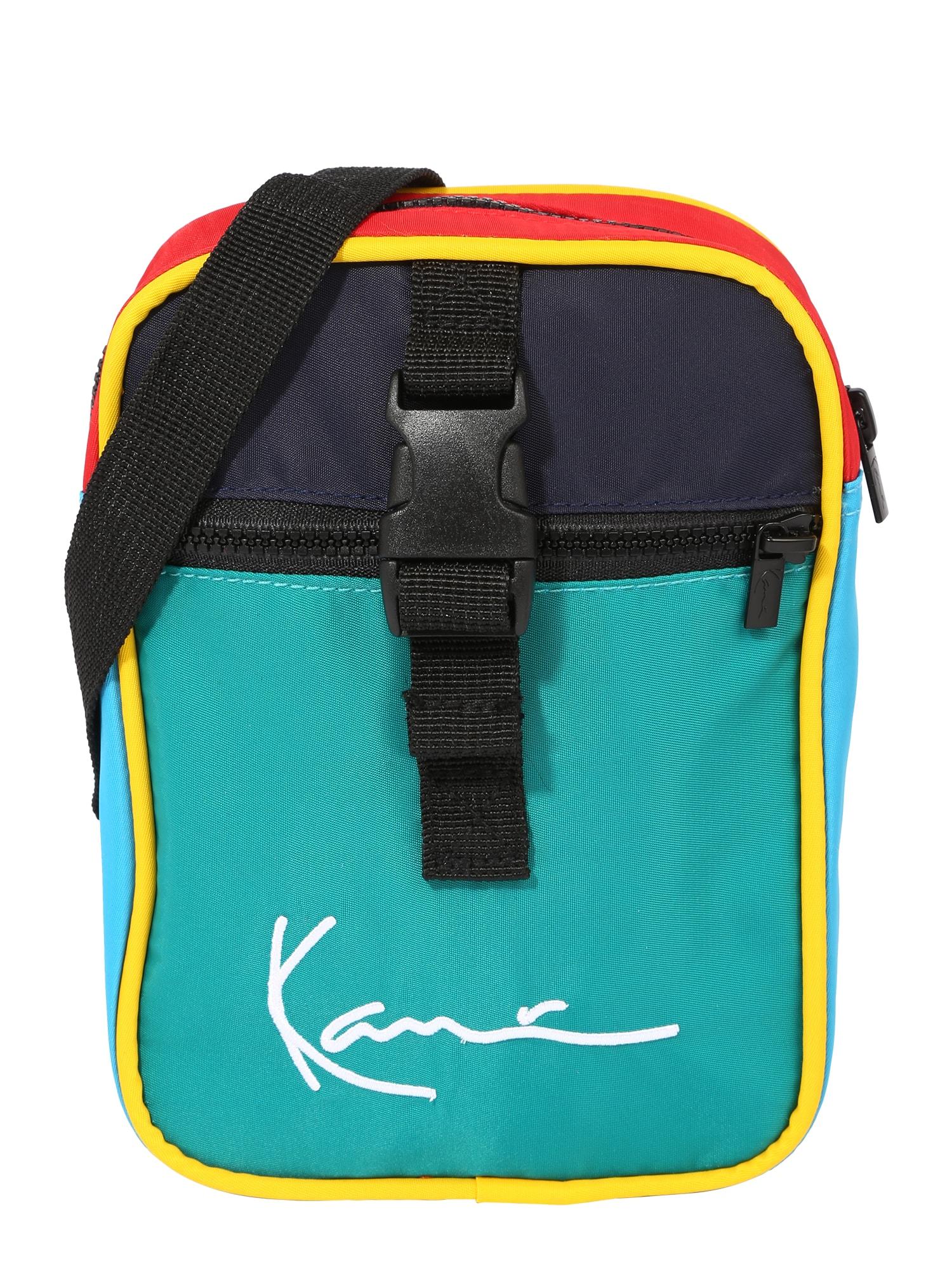 Karl Kani Rankinė su ilgu dirželiu nefrito spalva / tamsiai mėlyna / šviesiai mėlyna / šviesiai raudona / geltona
