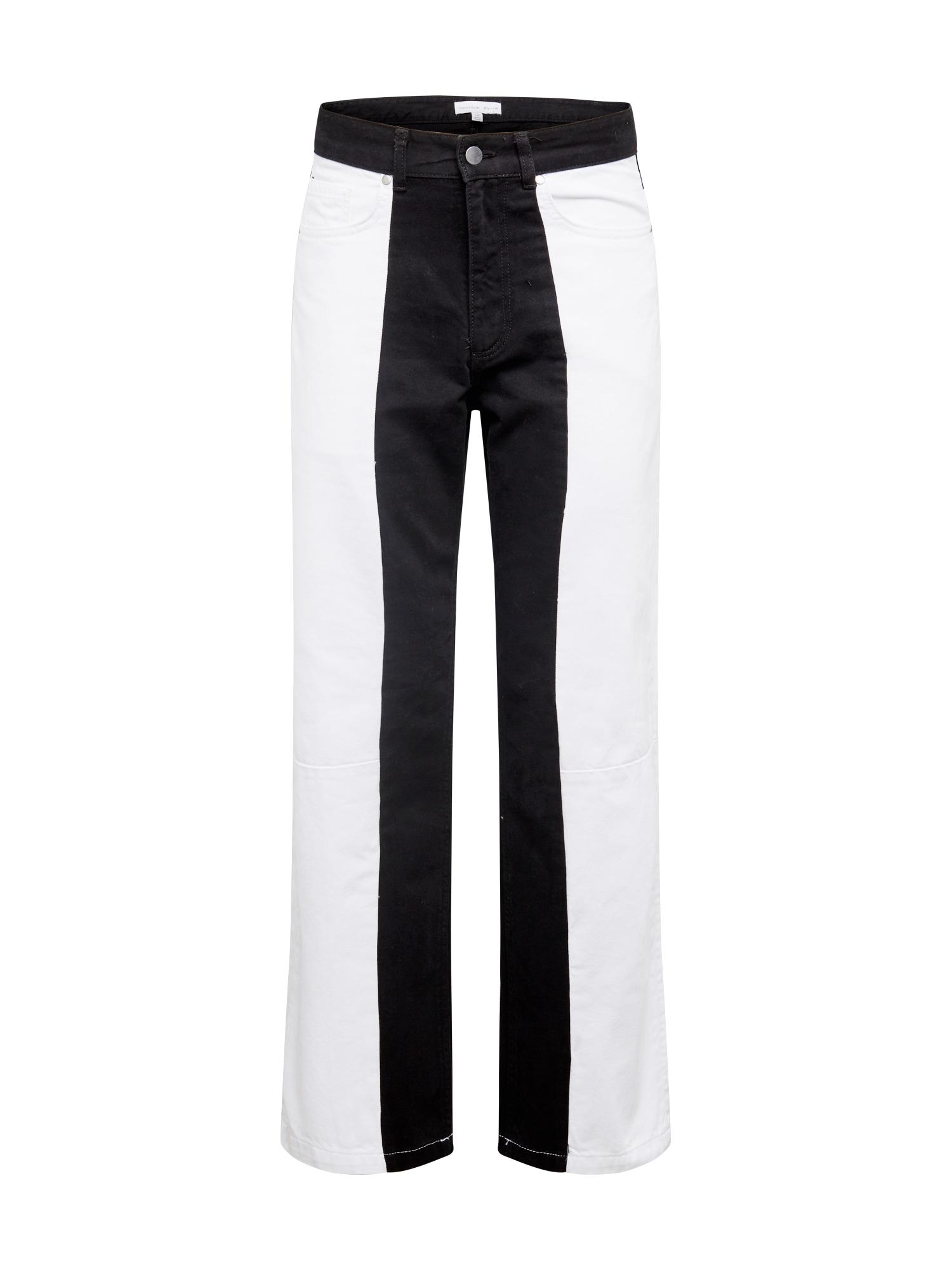 NU-IN Džinsai balto džinso spalva / juodo džinso spalva