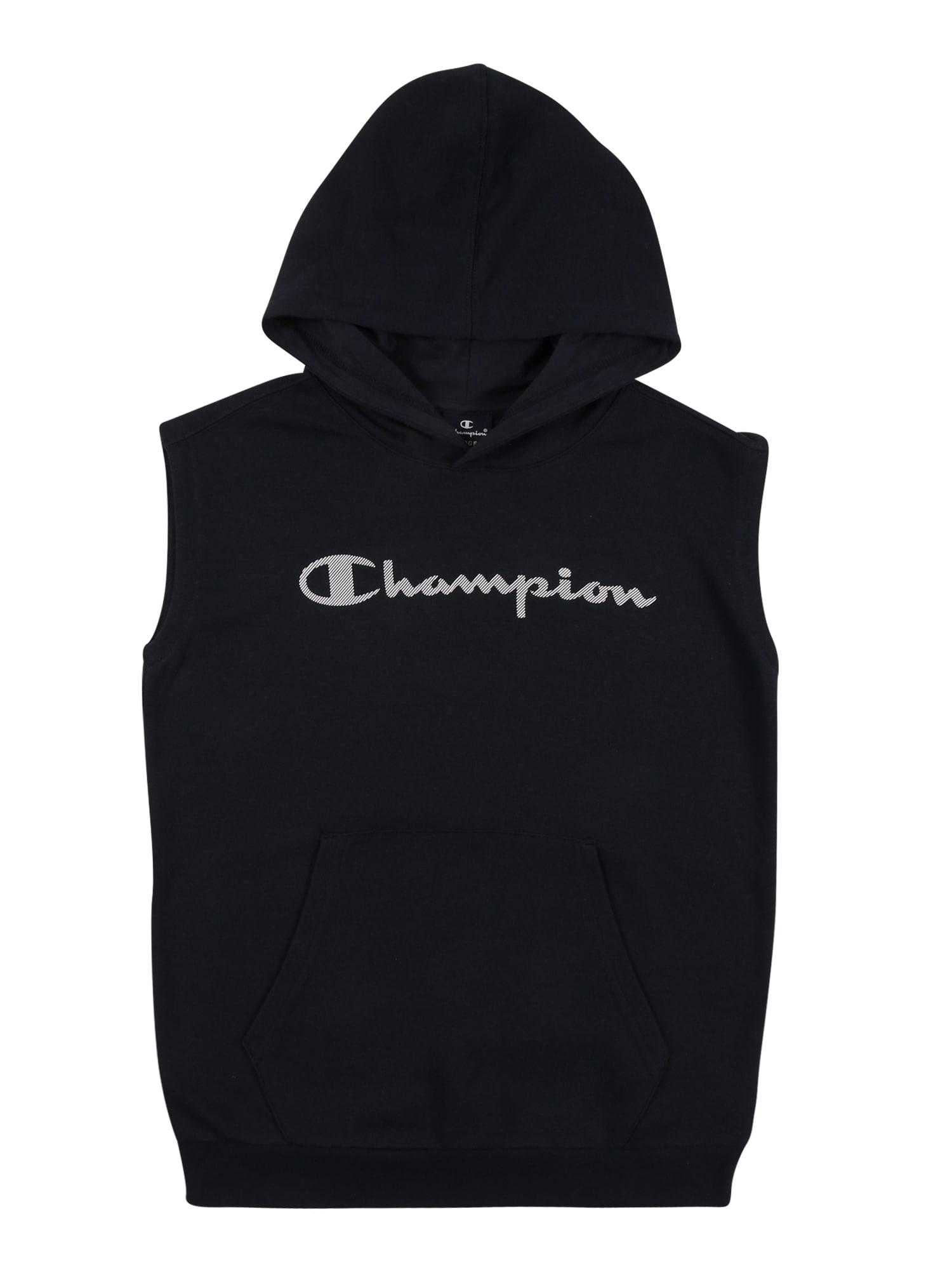 Champion Authentic Athletic Apparel Megztinis be užsegimo balta / nakties mėlyna