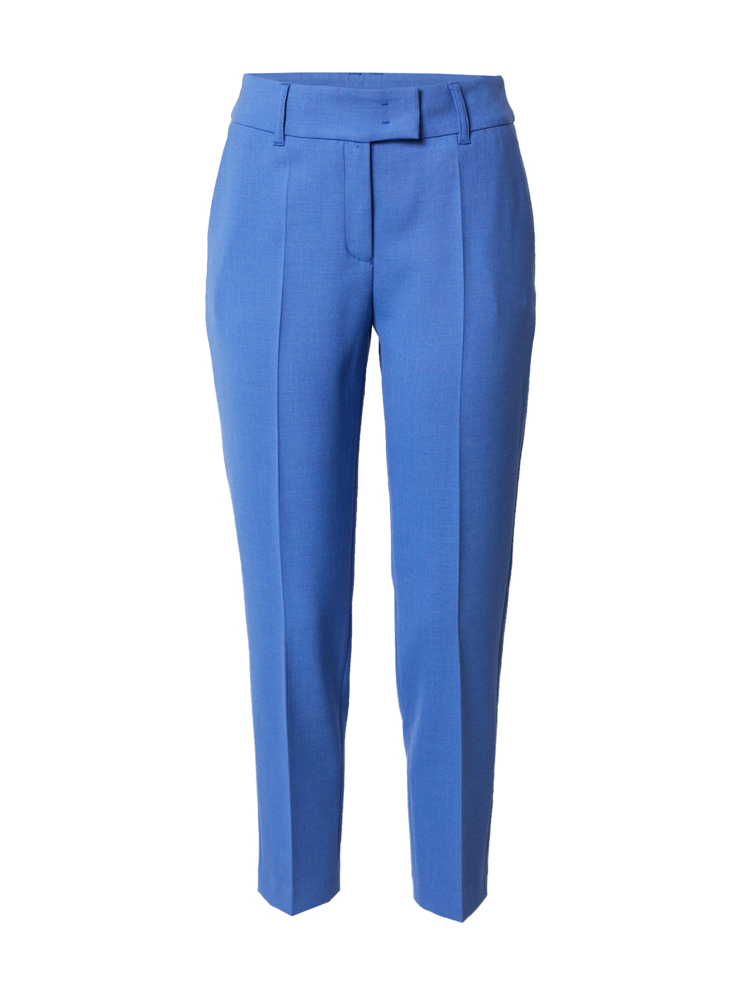 s.Oliver BLACK LABEL Kelnės su kantu mėlyna