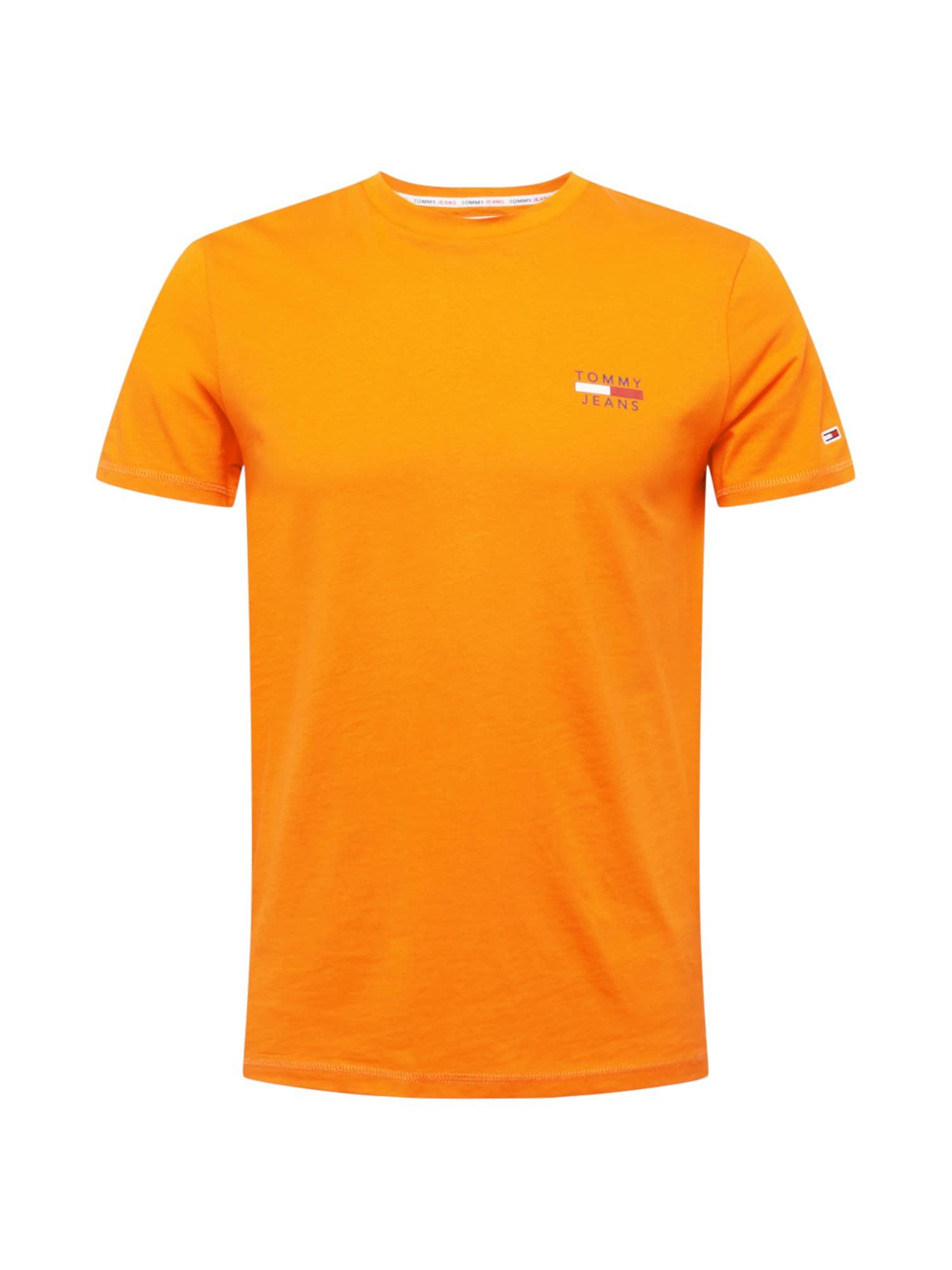 Tommy Jeans Tričko  oranžová / bílá / námořnická modř / červená