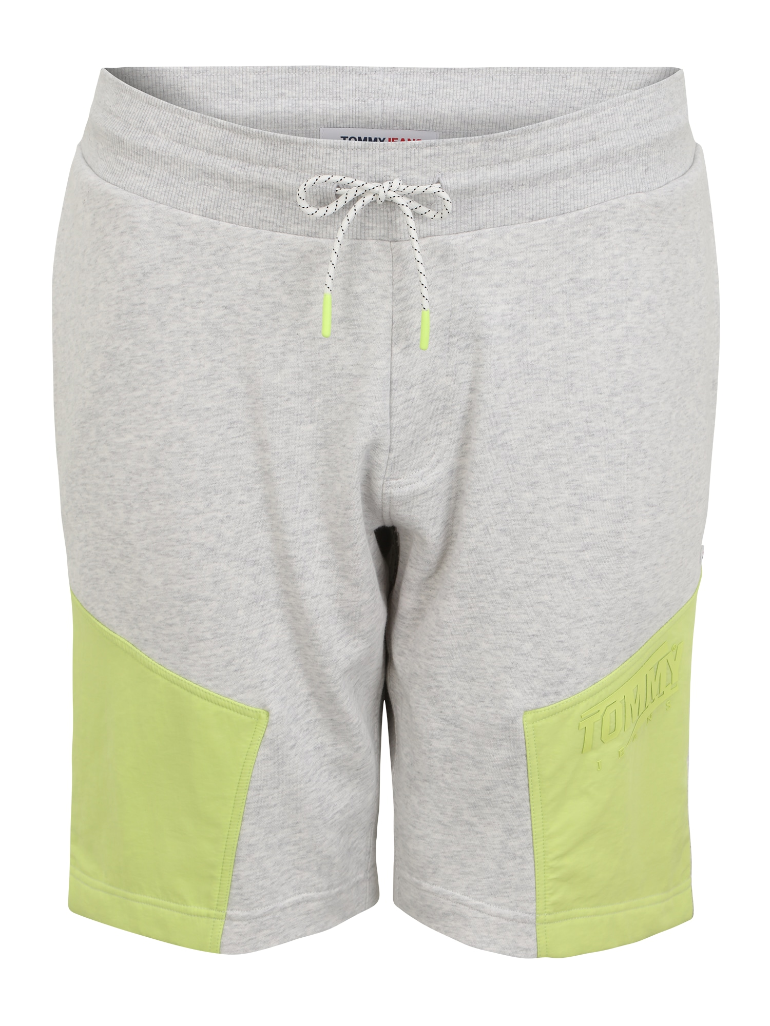 Tommy Jeans Plus Kelnės sidabro pilka / geltona