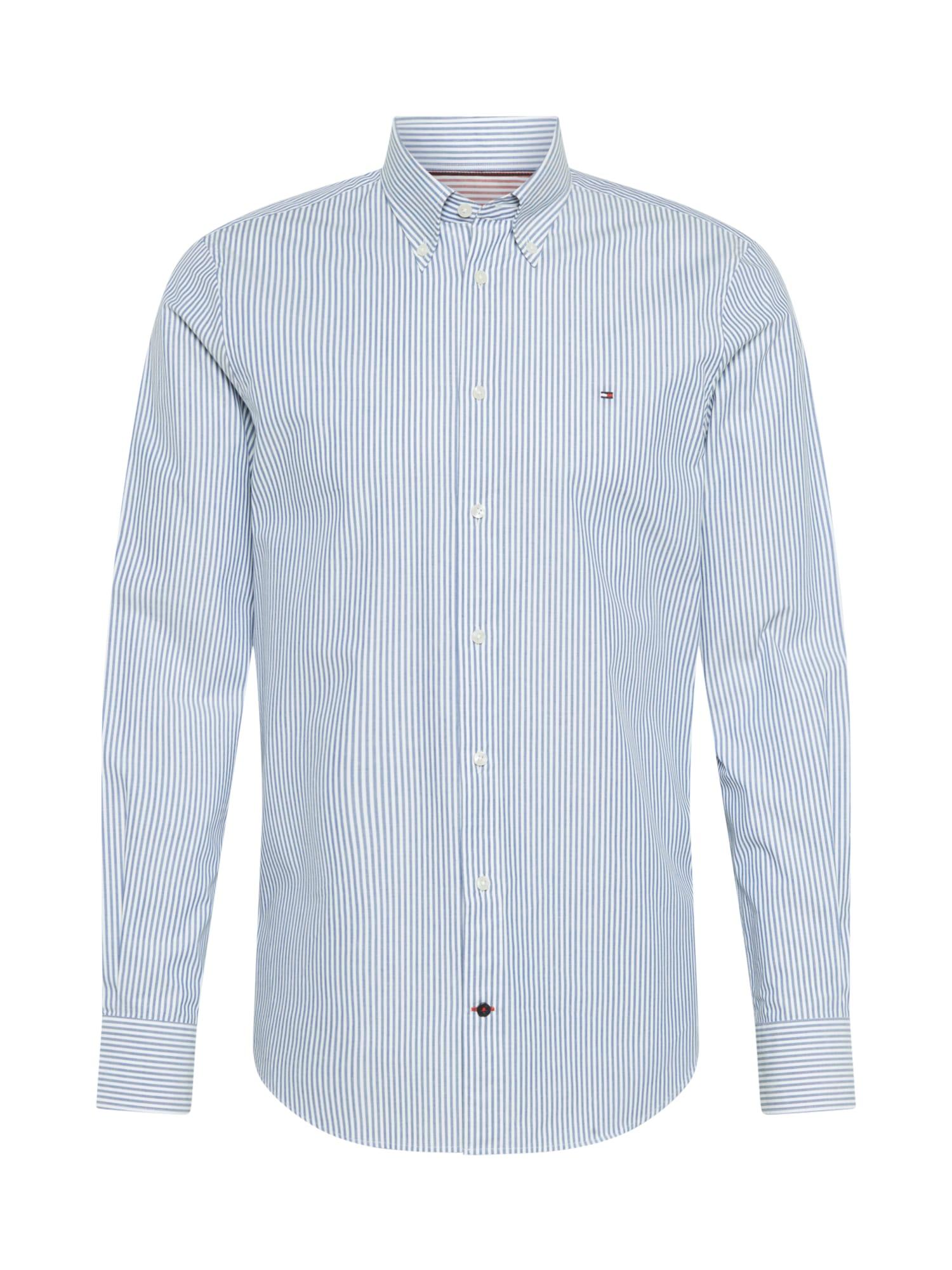 Tommy Hilfiger Tailored Marškiniai balta / tamsiai mėlyna