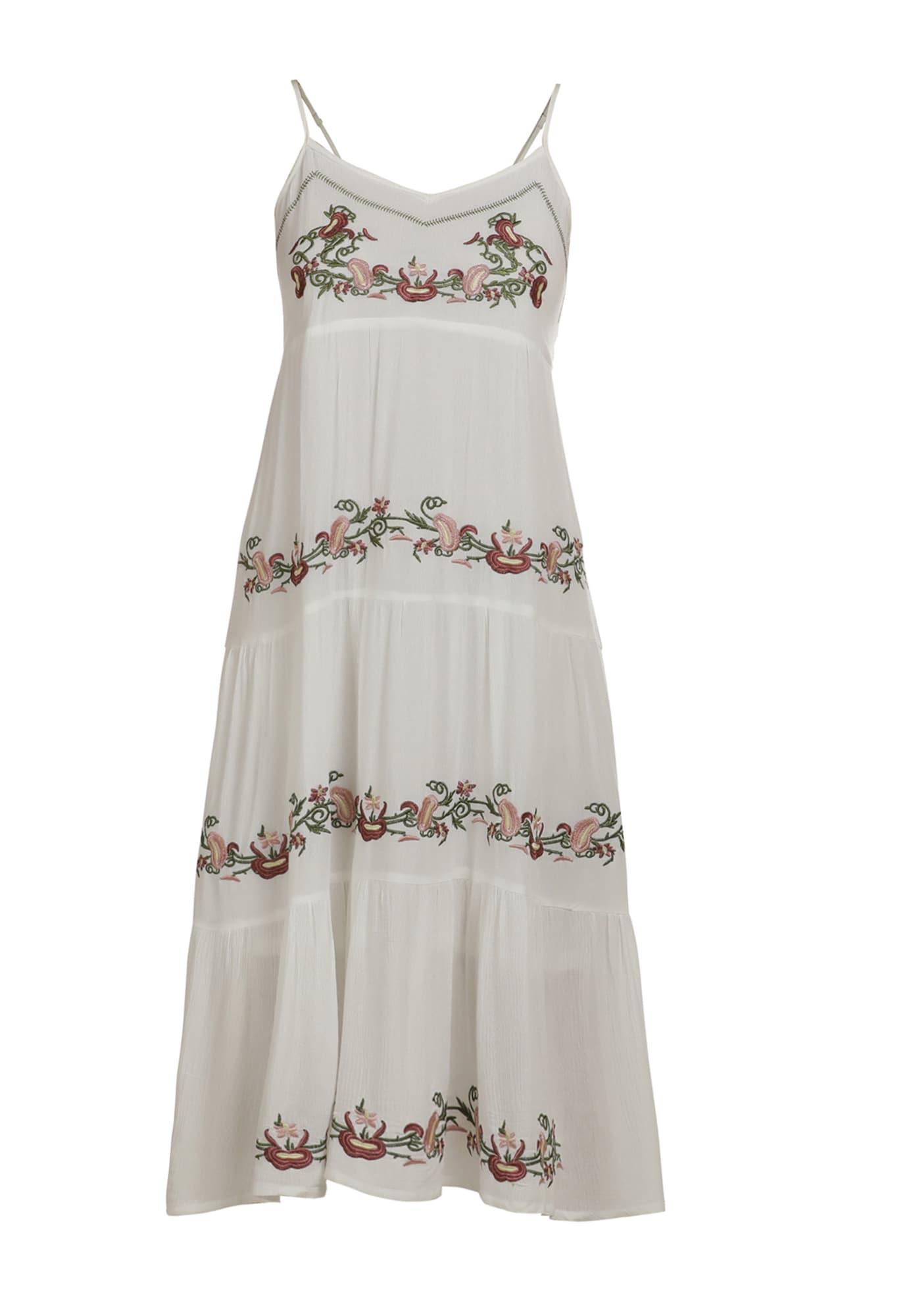 usha FESTIVAL Vasarinė suknelė balta / omarų spalva / žolės žalia / ryškiai rožinė spalva / pastelinė geltona