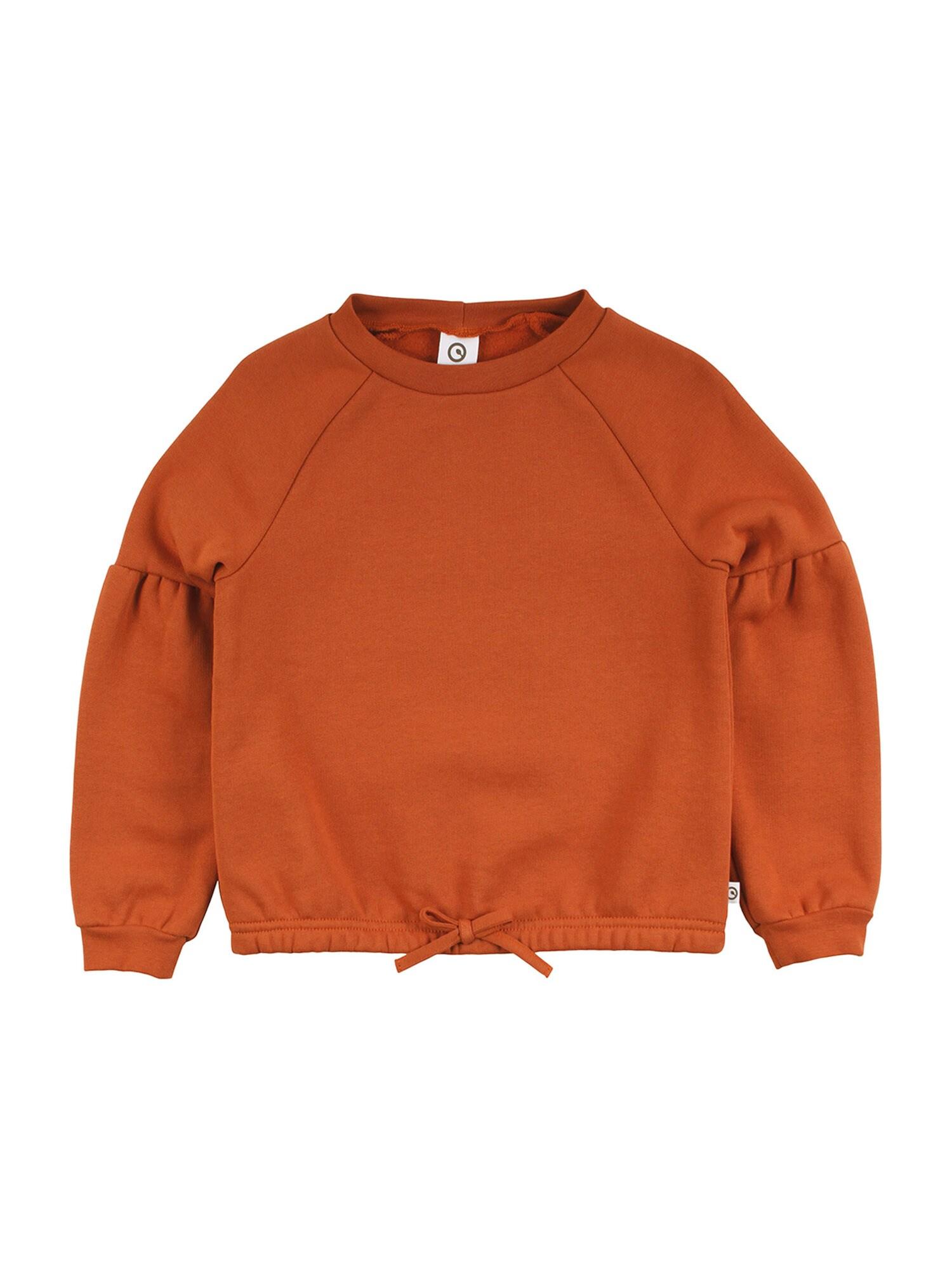 Müsli by GREEN COTTON Megztinis be užsegimo tamsiai oranžinė