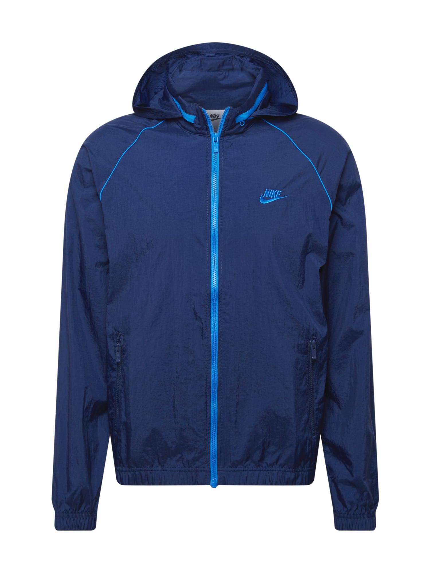 Nike Sportswear Demisezoninė striukė tamsiai mėlyna / mėlyna