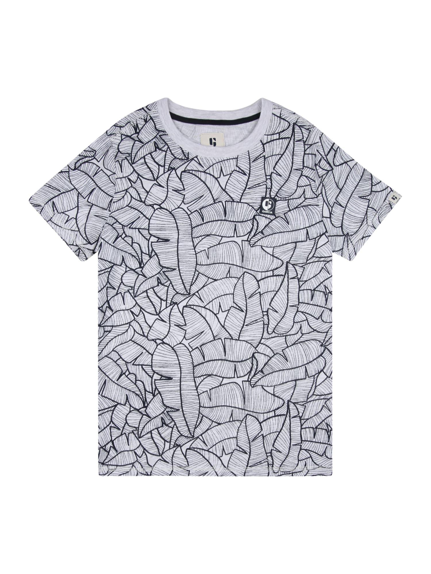 GARCIA Marškinėliai šviesiai pilka / juoda