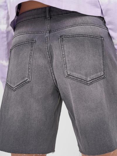 Noisy May Lucky Longboarder Distressed Denim Shorts Washed Schwarz