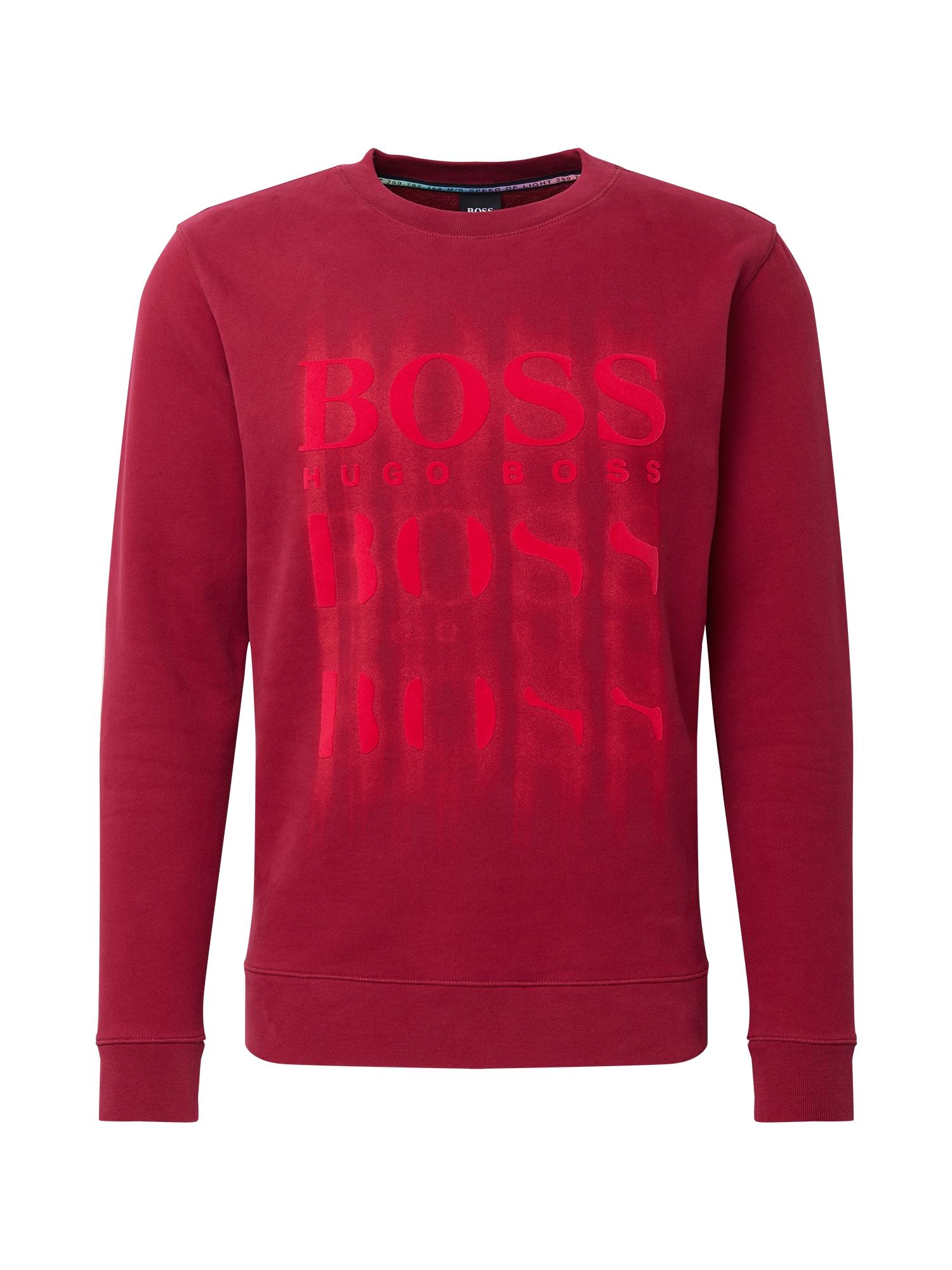 BOSS Megztinis be užsegimo raudona / tamsiai raudona