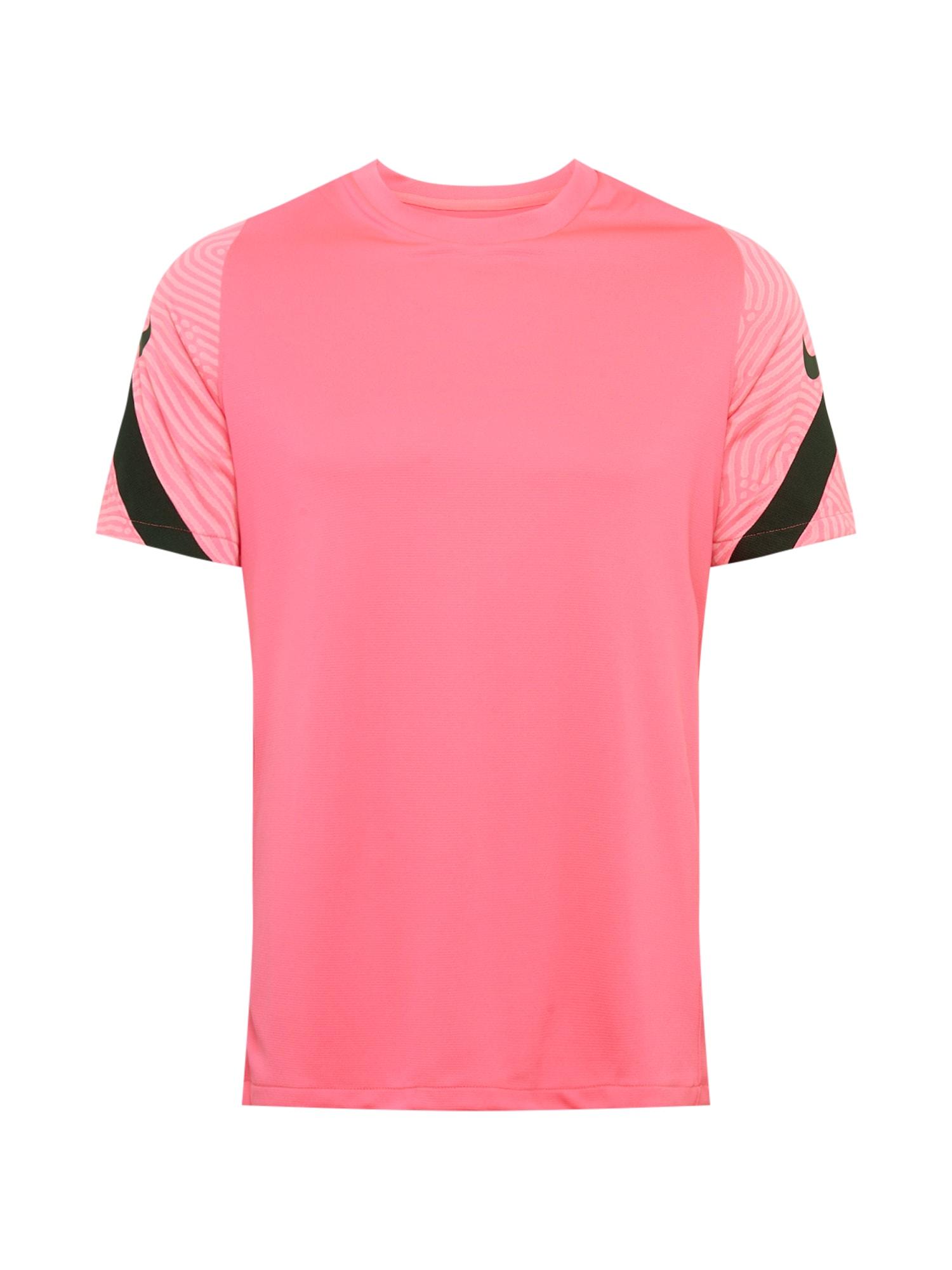 NIKE Funkční tričko 'Strike'  pink / černá