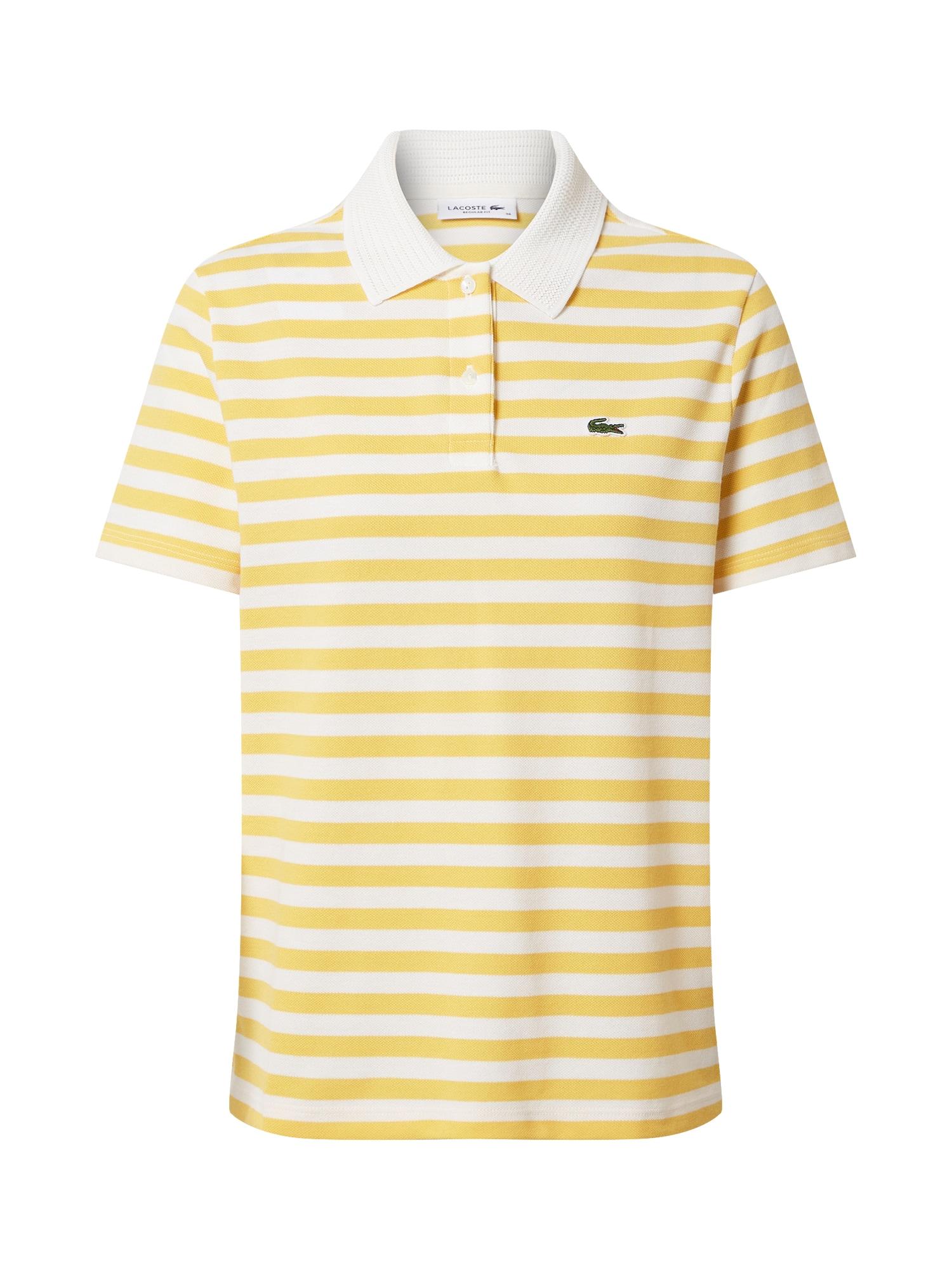 LACOSTE Marškinėliai balta / geltona