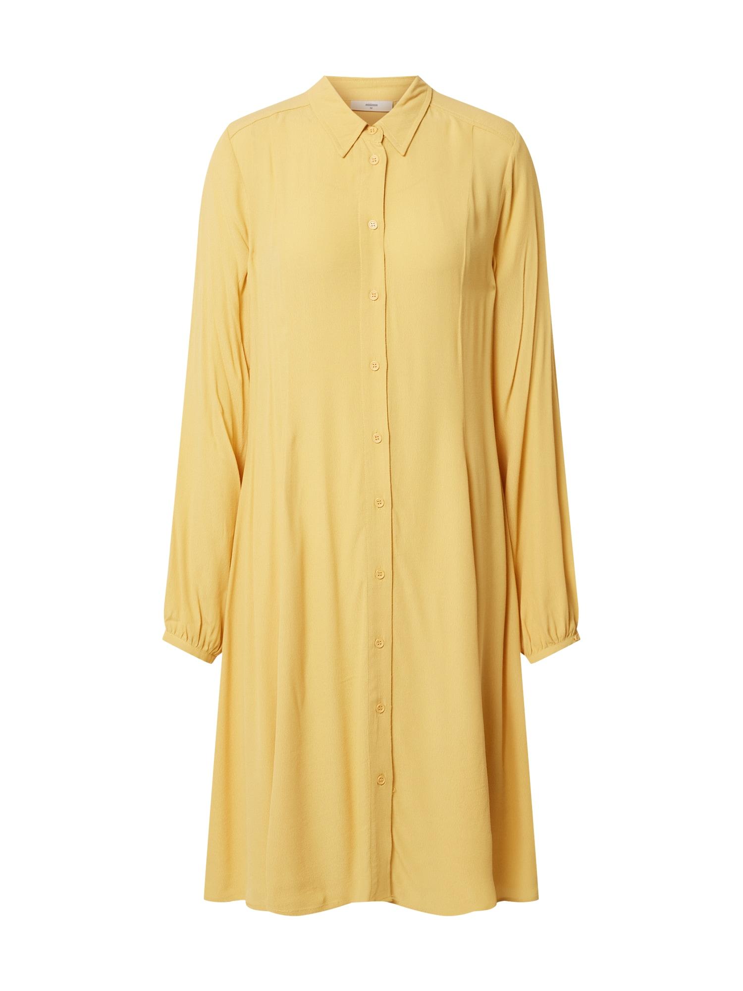 minimum Košilové šaty 'Bindine 212'  světle žlutá