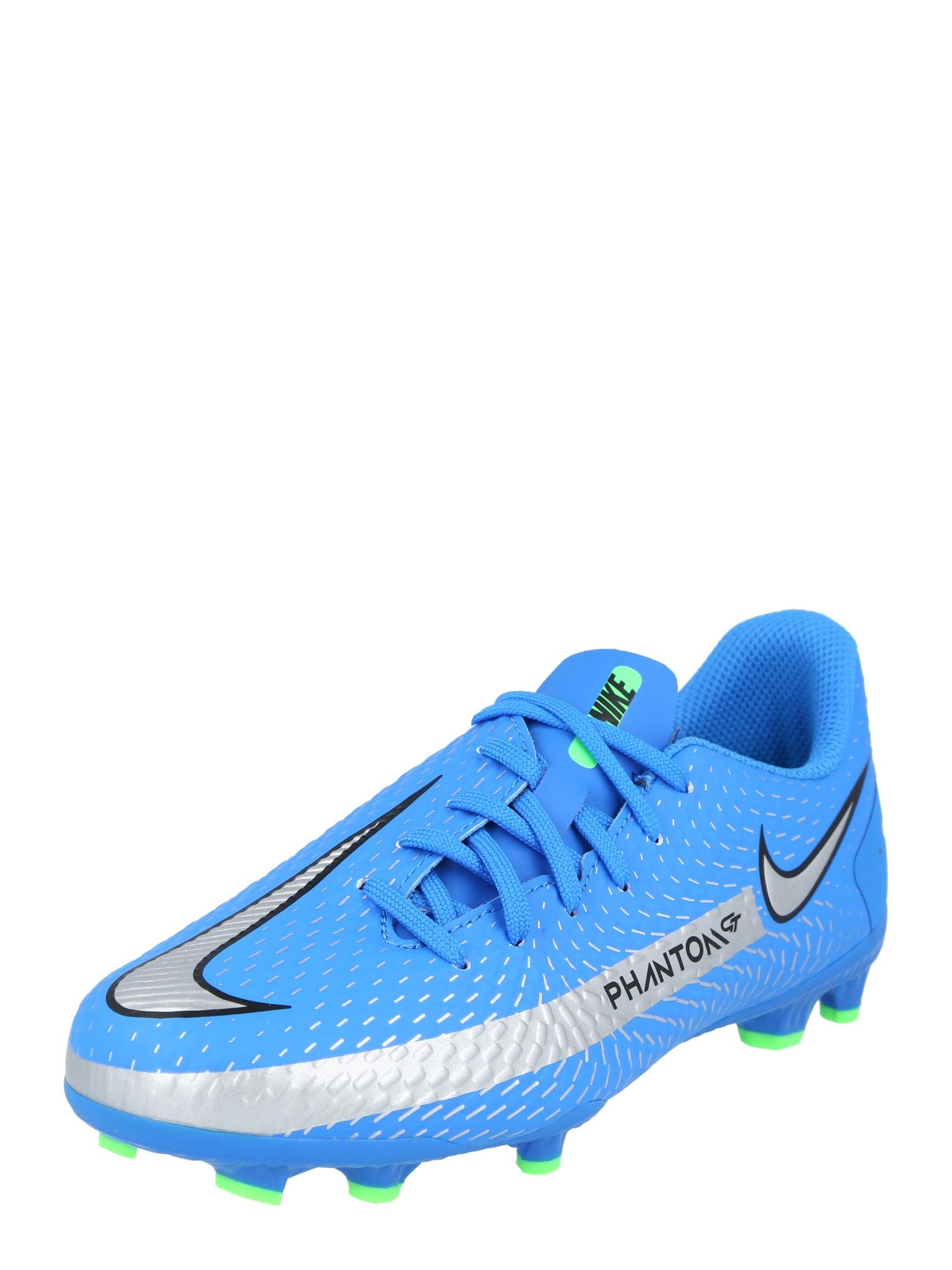 NIKE Sportiniai batai 'Phantom GT Academy' dangaus žydra / sidabrinė / juoda