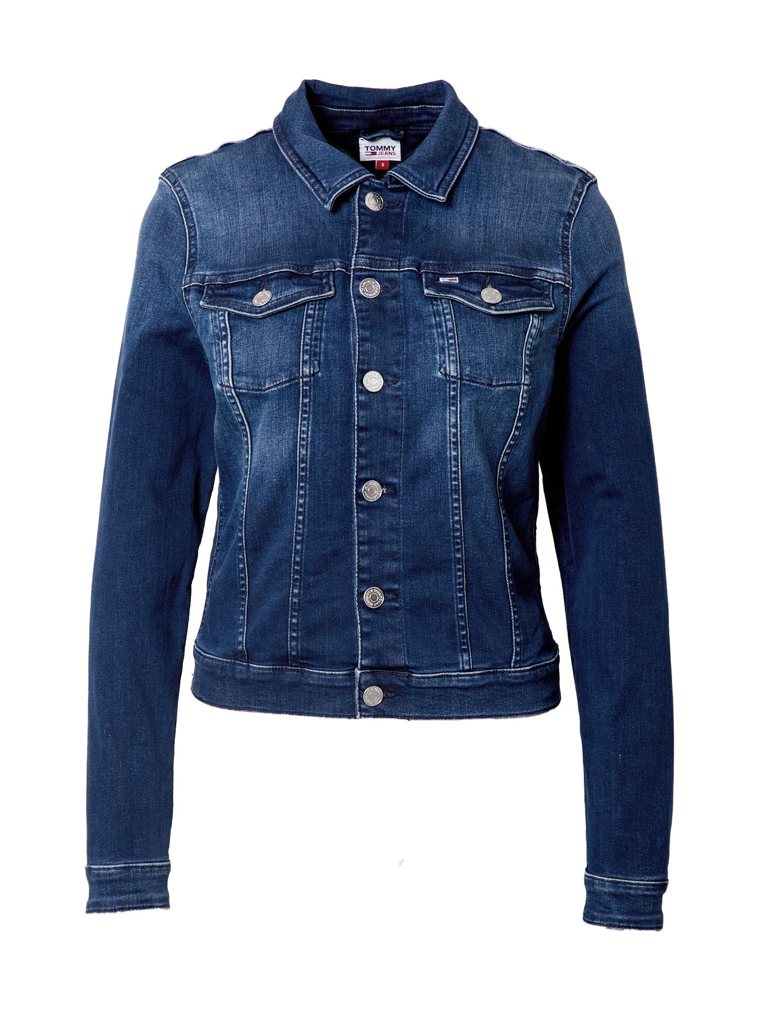 Tommy Jeans Demisezoninė striukė 'Vivianne' tamsiai (džinso) mėlyna