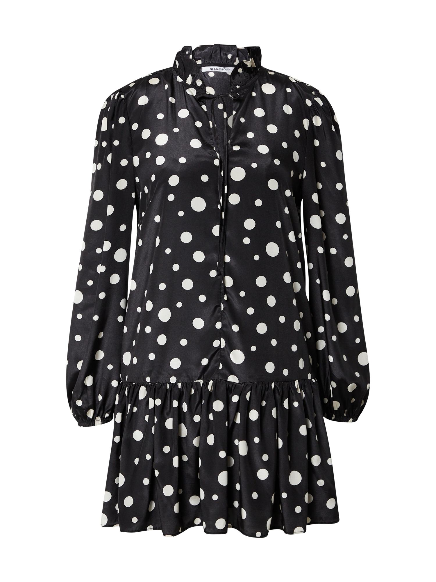 GLAMOROUS Suknelė balkšva / juoda