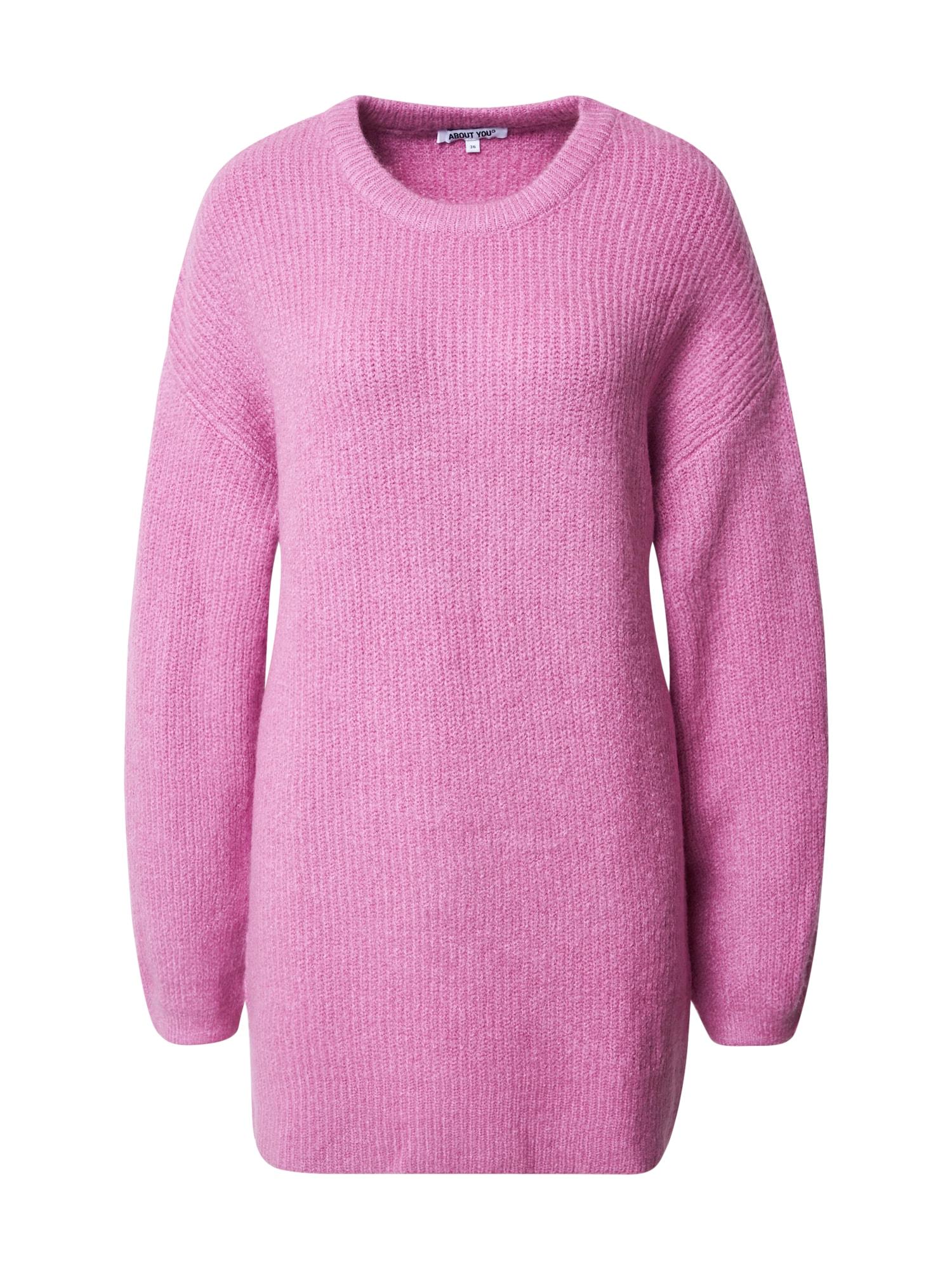 ABOUT YOU Laisvas megztinis 'Mina' alyvinė spalva / purpurinė