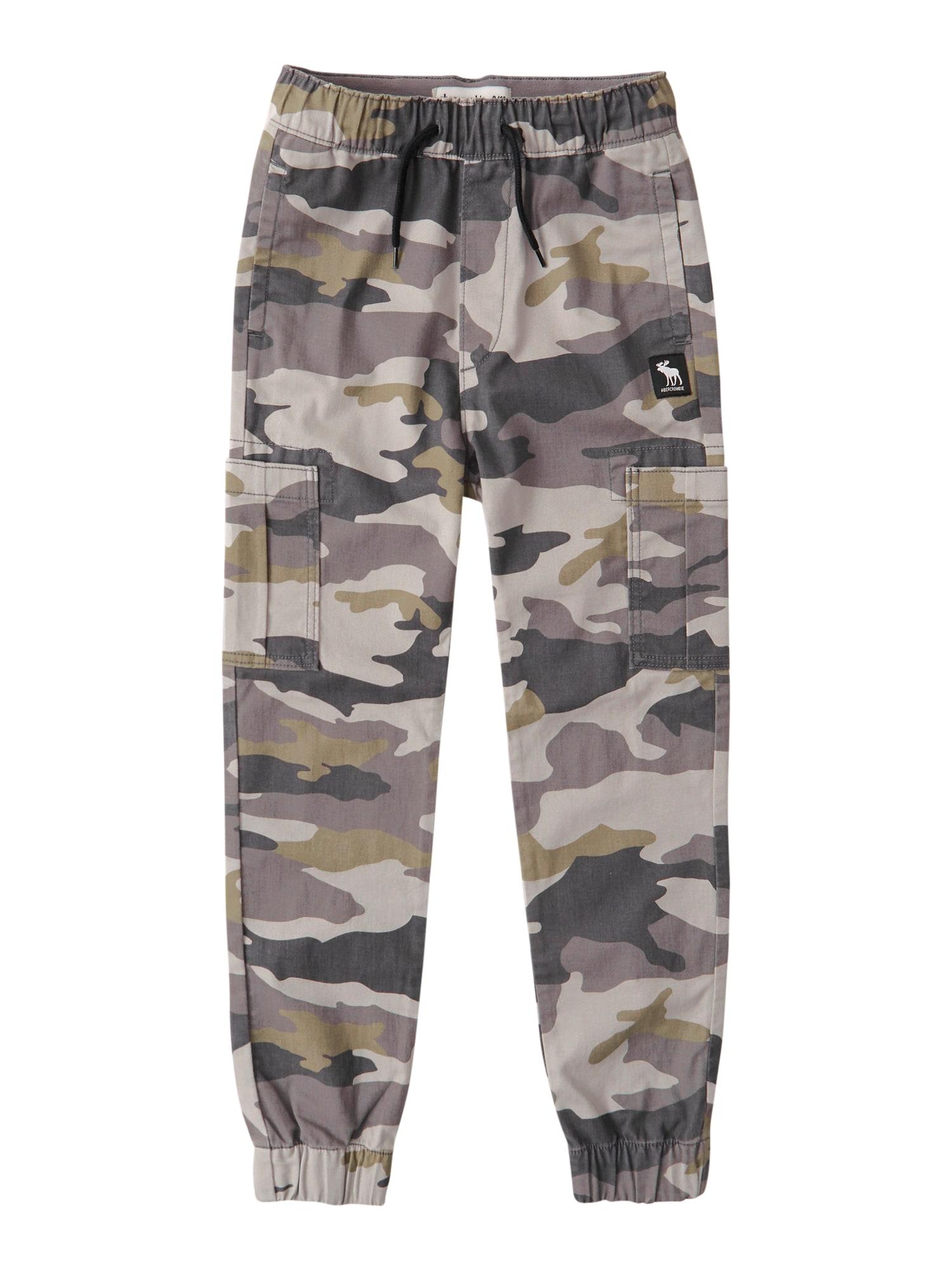 Abercrombie & Fitch Kelnės rusvai žalia / ruda