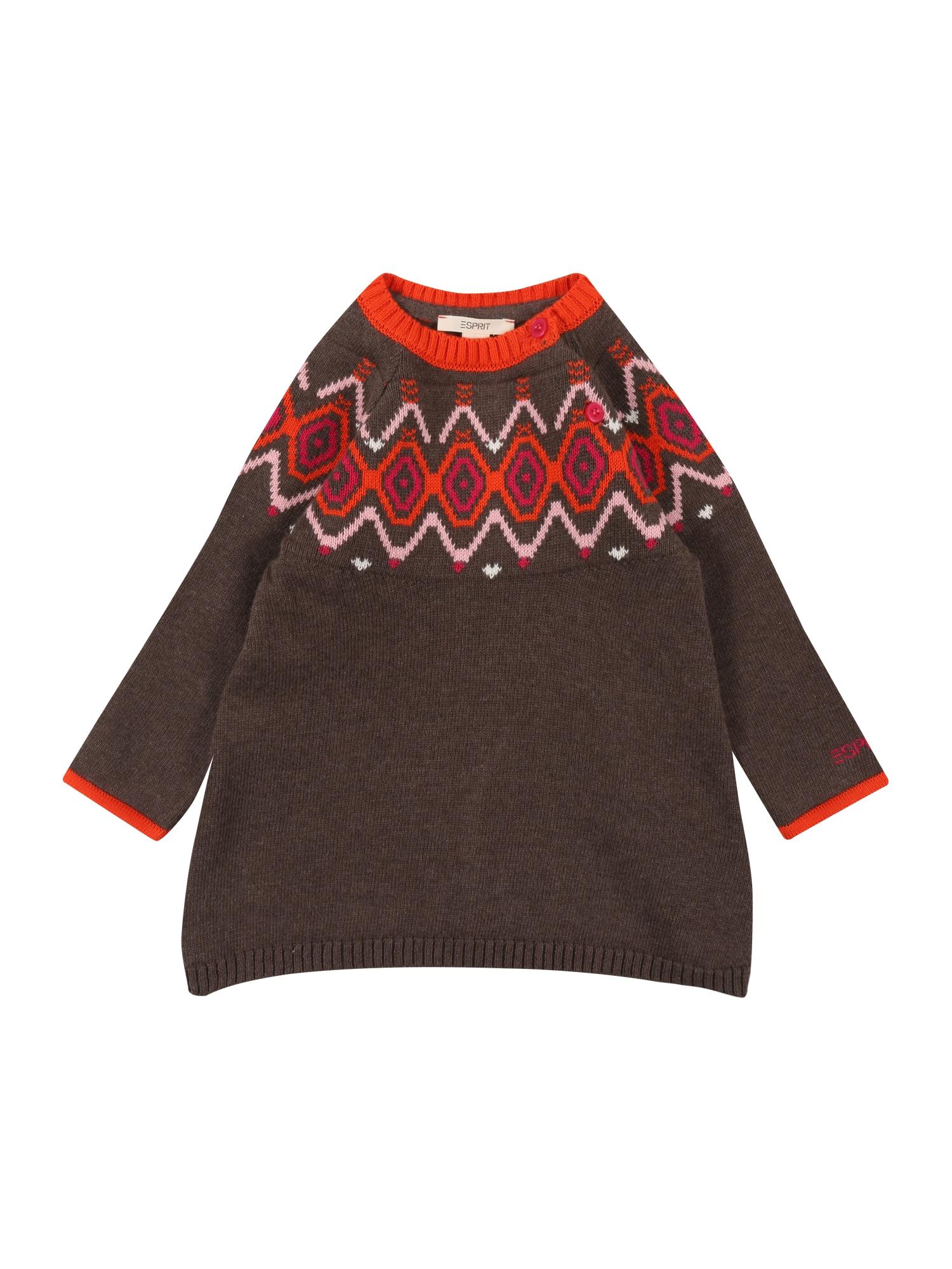 ESPRIT Suknelė ruda / oranžinė / kūno spalva / pitajų spalva