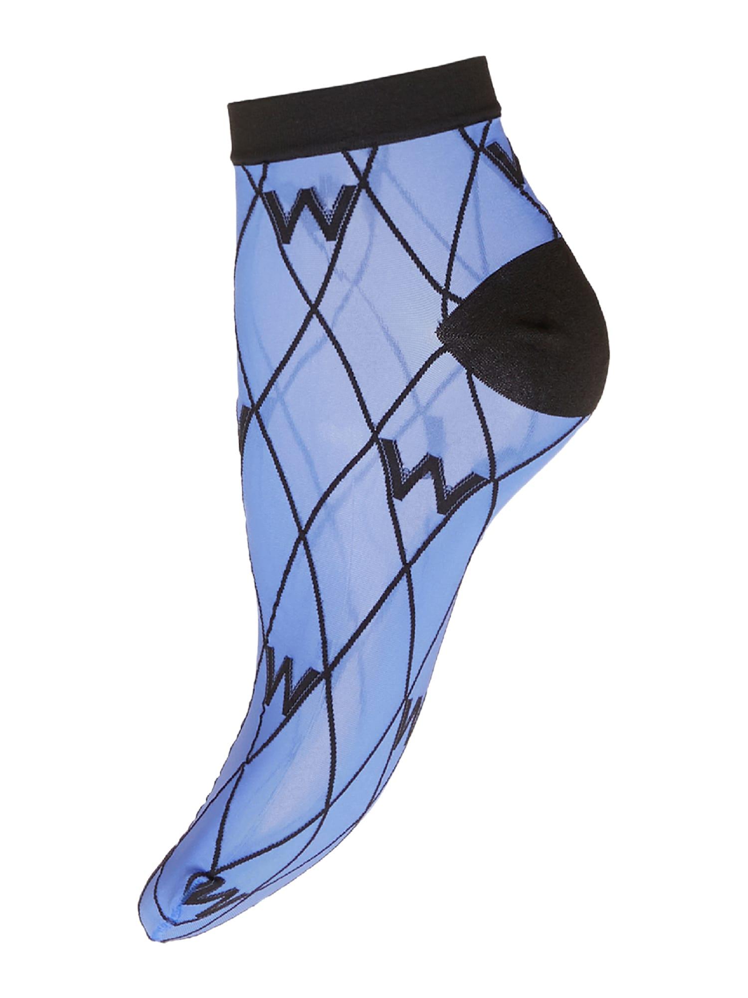 Wolford Kojinės mėlyna dūmų spalva / juoda