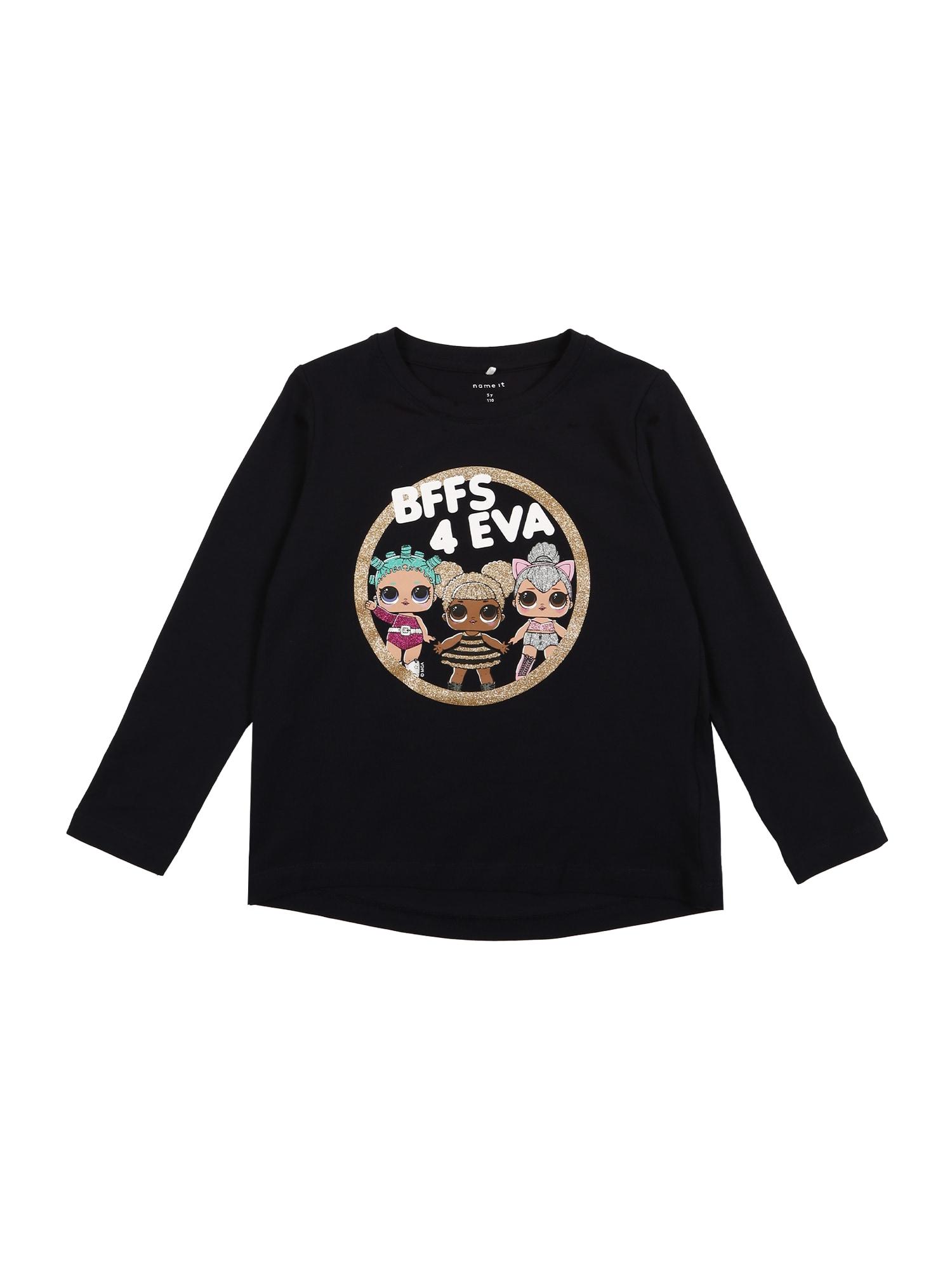 NAME IT Marškinėliai mišrios spalvos / juoda