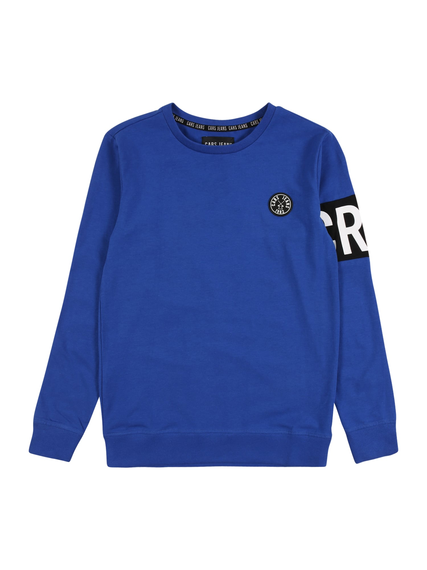 Cars Jeans Megztinis be užsegimo kobalto mėlyna / juoda / balta