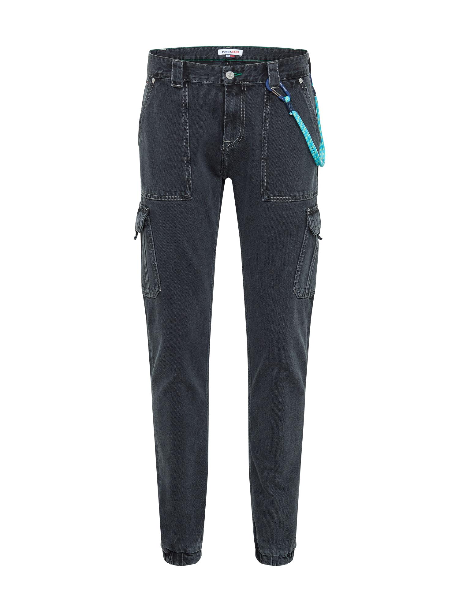 Tommy Jeans Darbinio stiliaus džinsai juodo džinso spalva