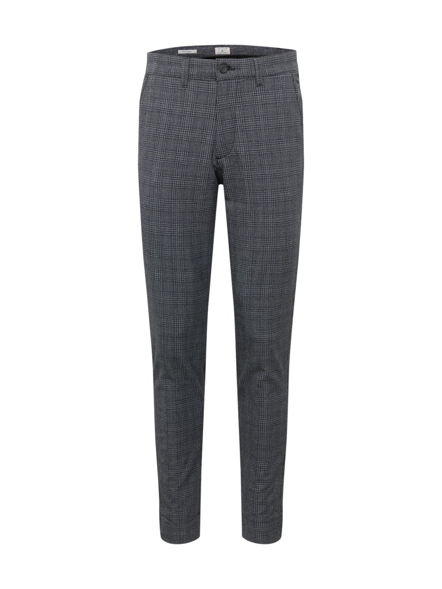 JACK & JONES Chino kalhoty 'MARCO STUART'  černá / šedá