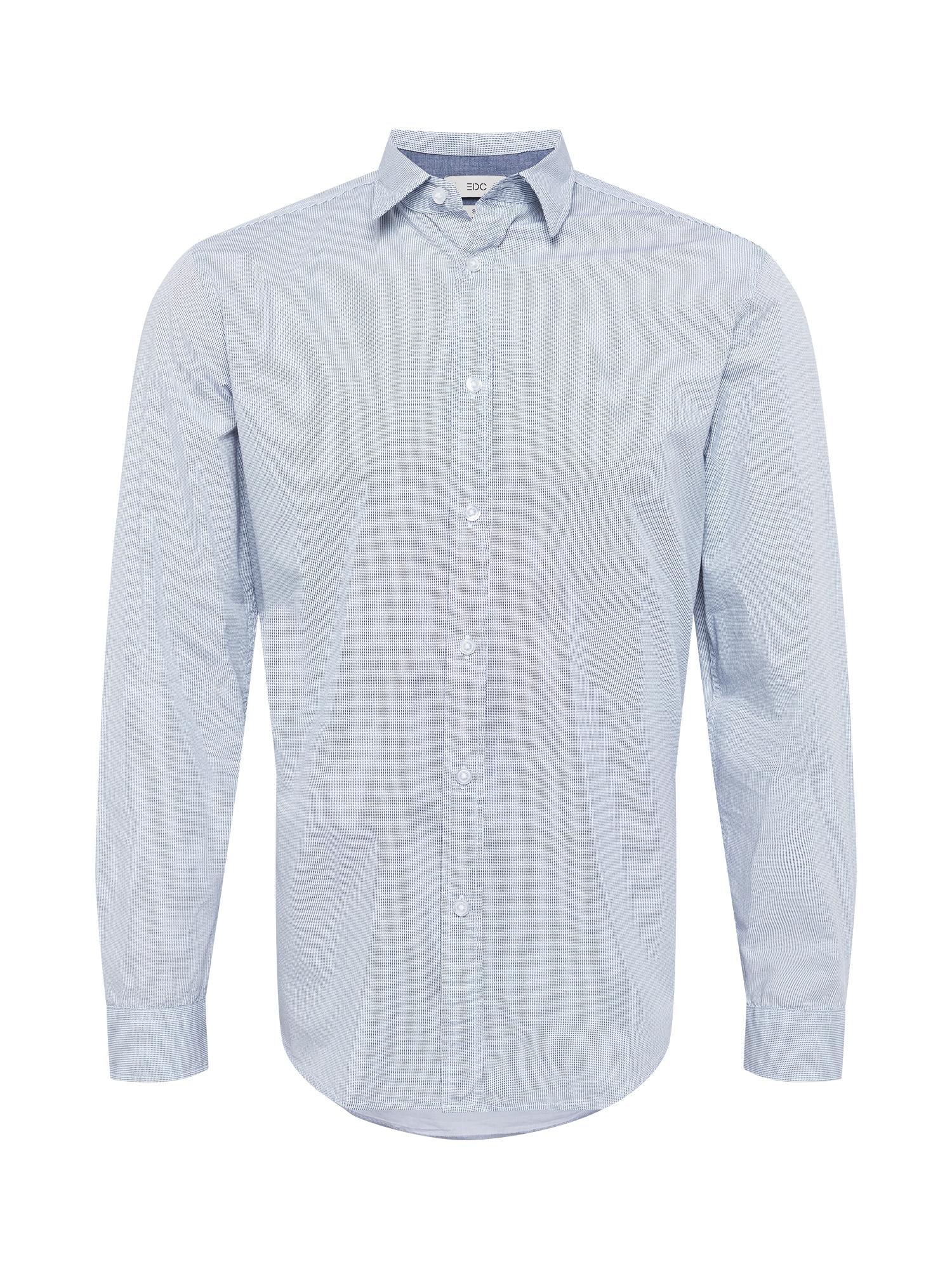 EDC BY ESPRIT Marškiniai kremo / šviesiai mėlyna