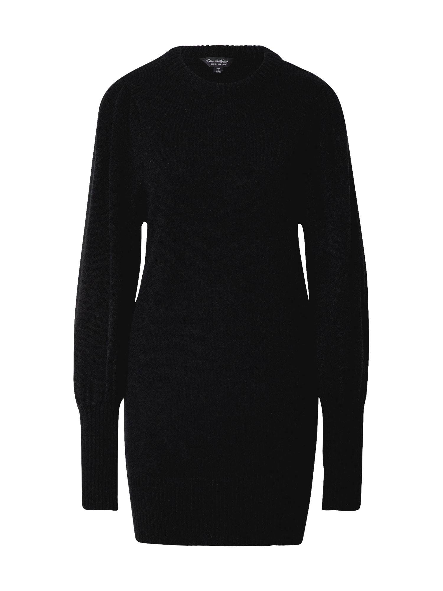 Miss Selfridge Úpletové šaty  černá