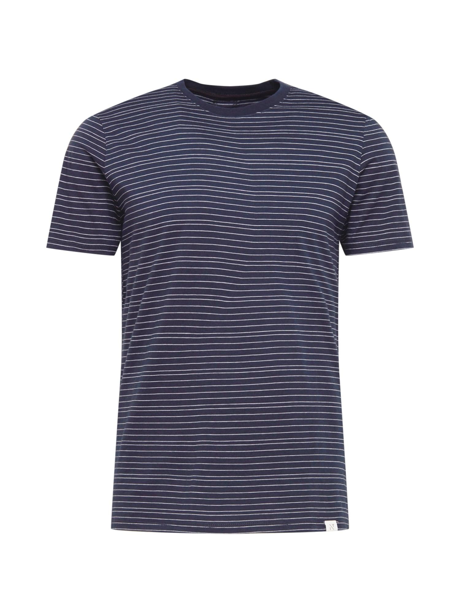 NOWADAYS Marškinėliai tamsiai mėlyna / balta
