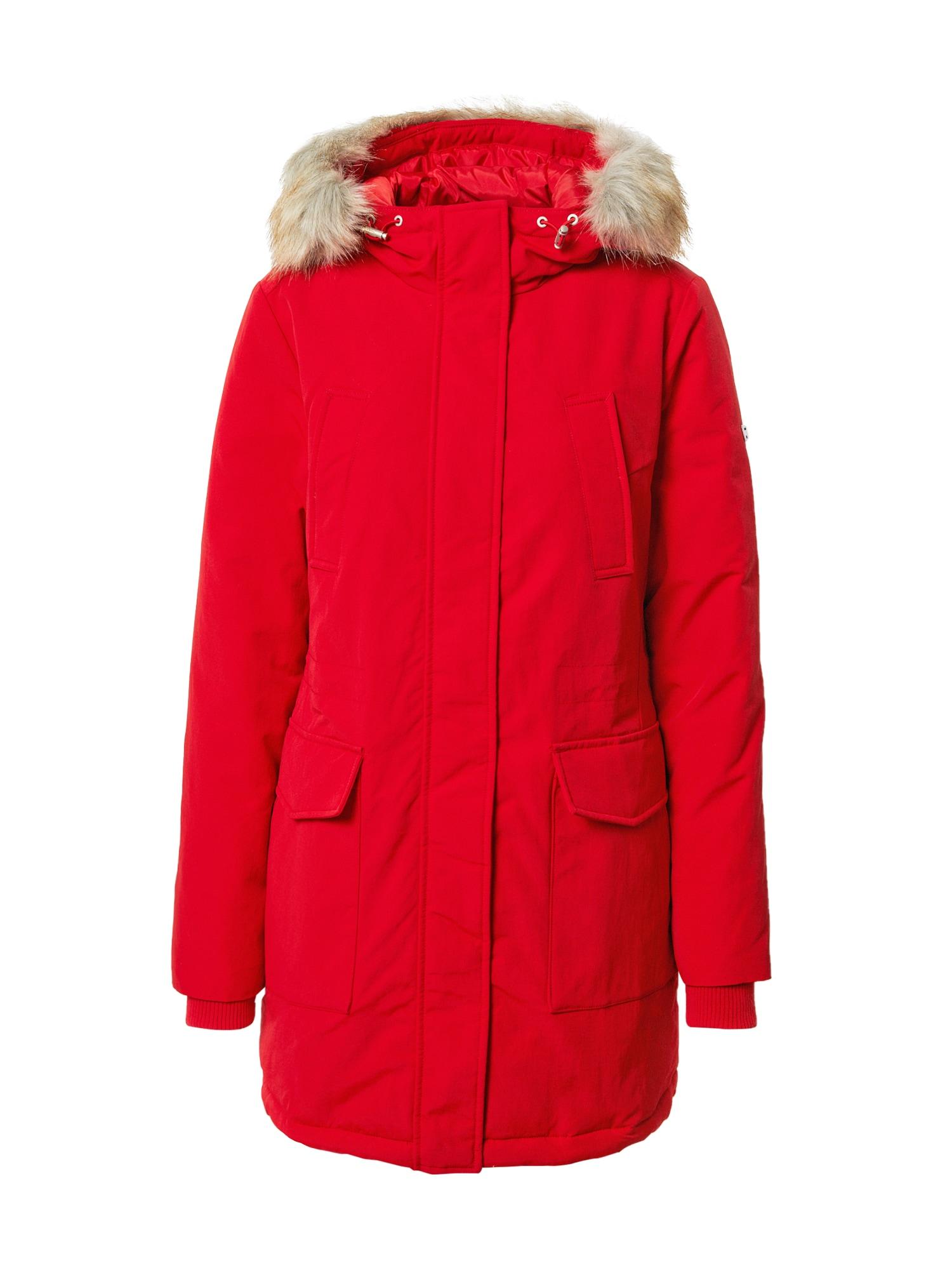 Tommy Jeans Žieminė parka raudona