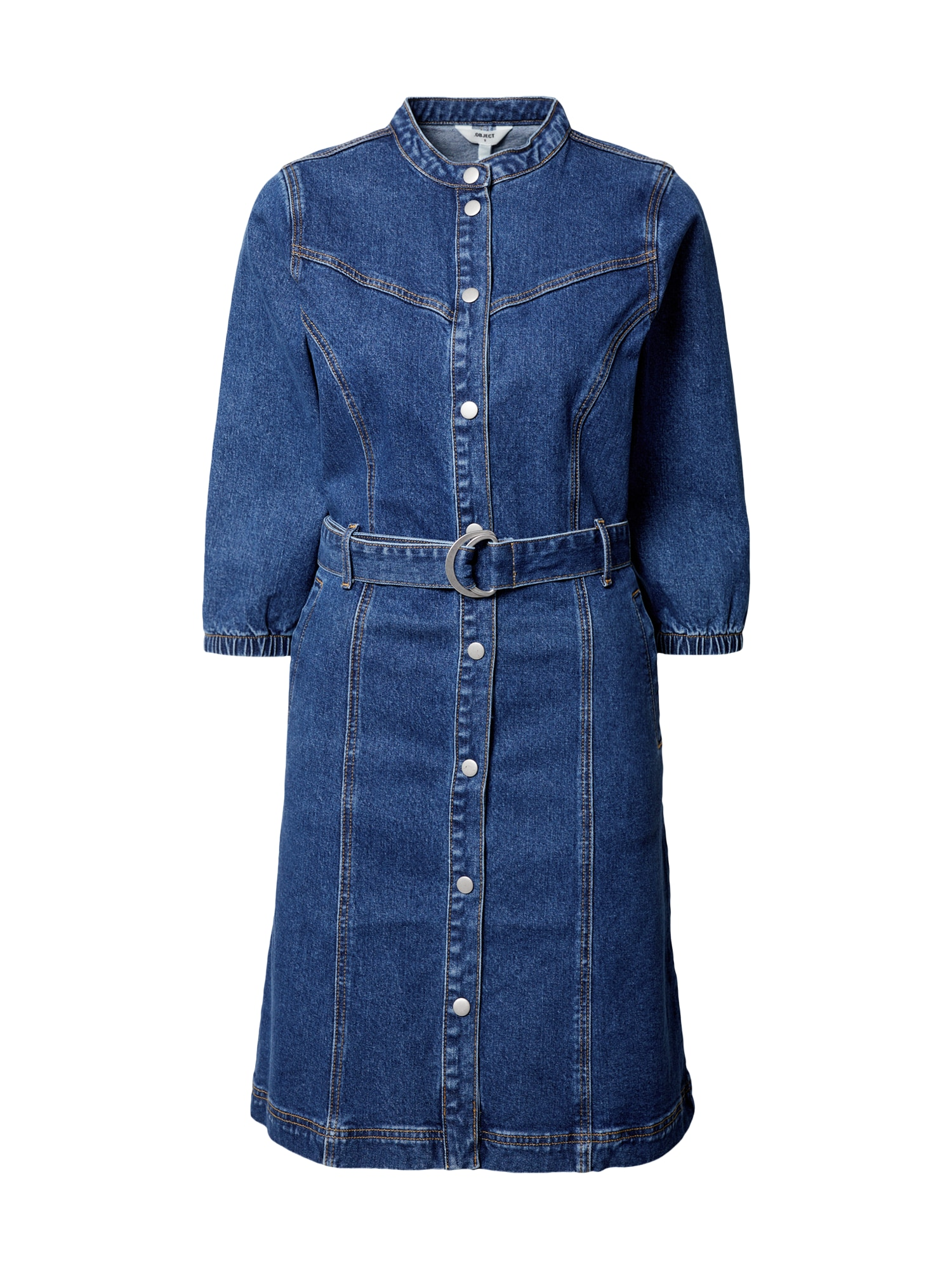 OBJECT Košilové šaty 'Malou'  modrá džínovina