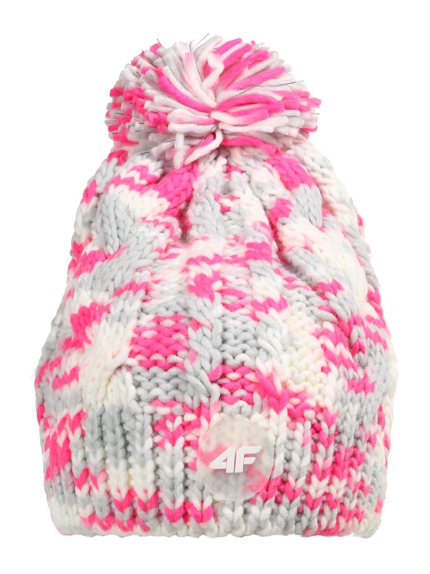 4F Sportinė kepurė šviesiai pilka / rožinė / kremo