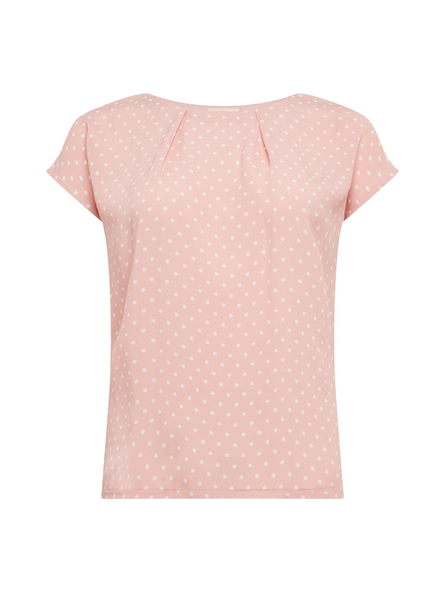 TRIANGLE Marškinėliai šviesiai rožinė / balta