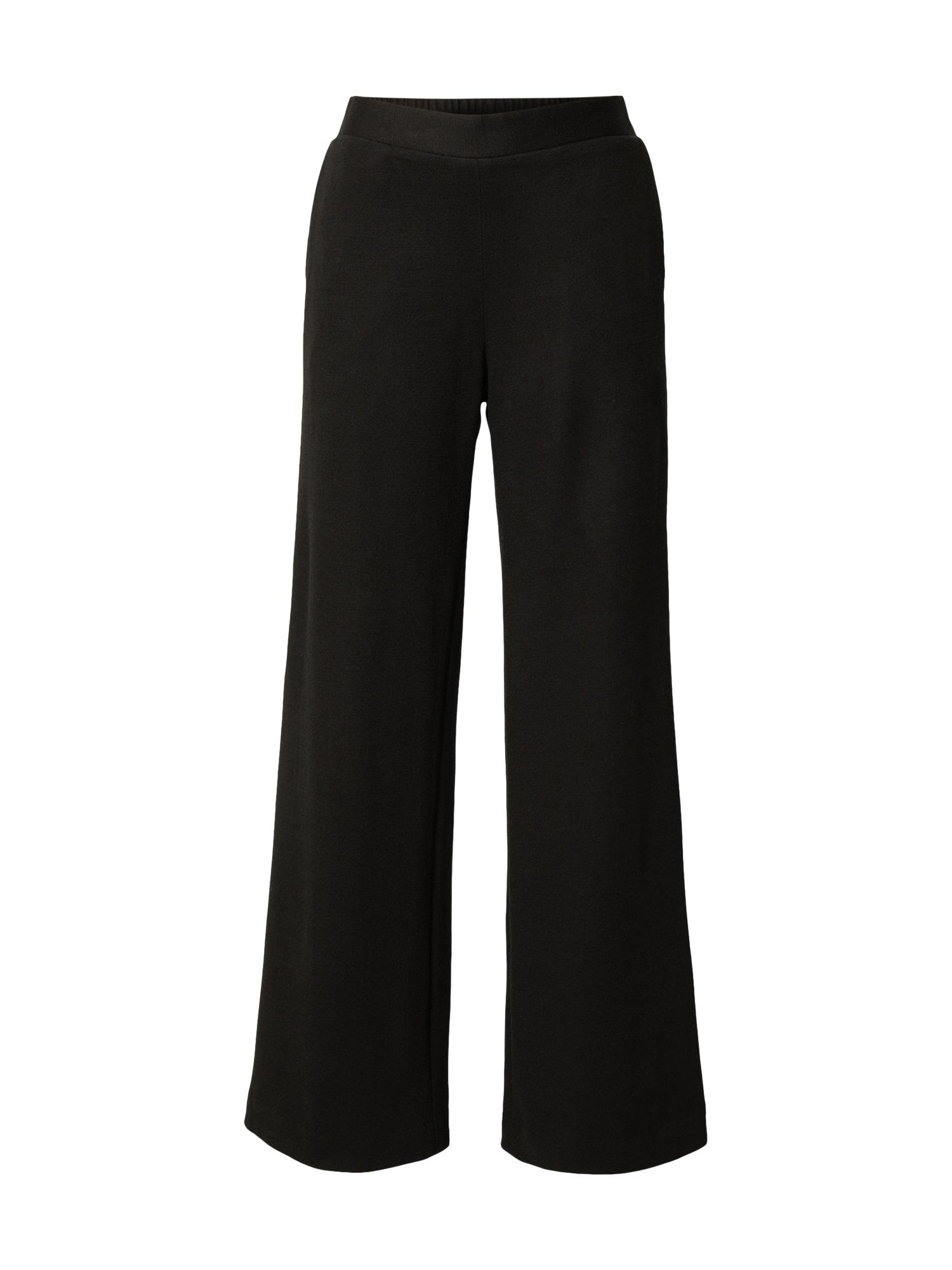 LANIUS Kalhoty  černá