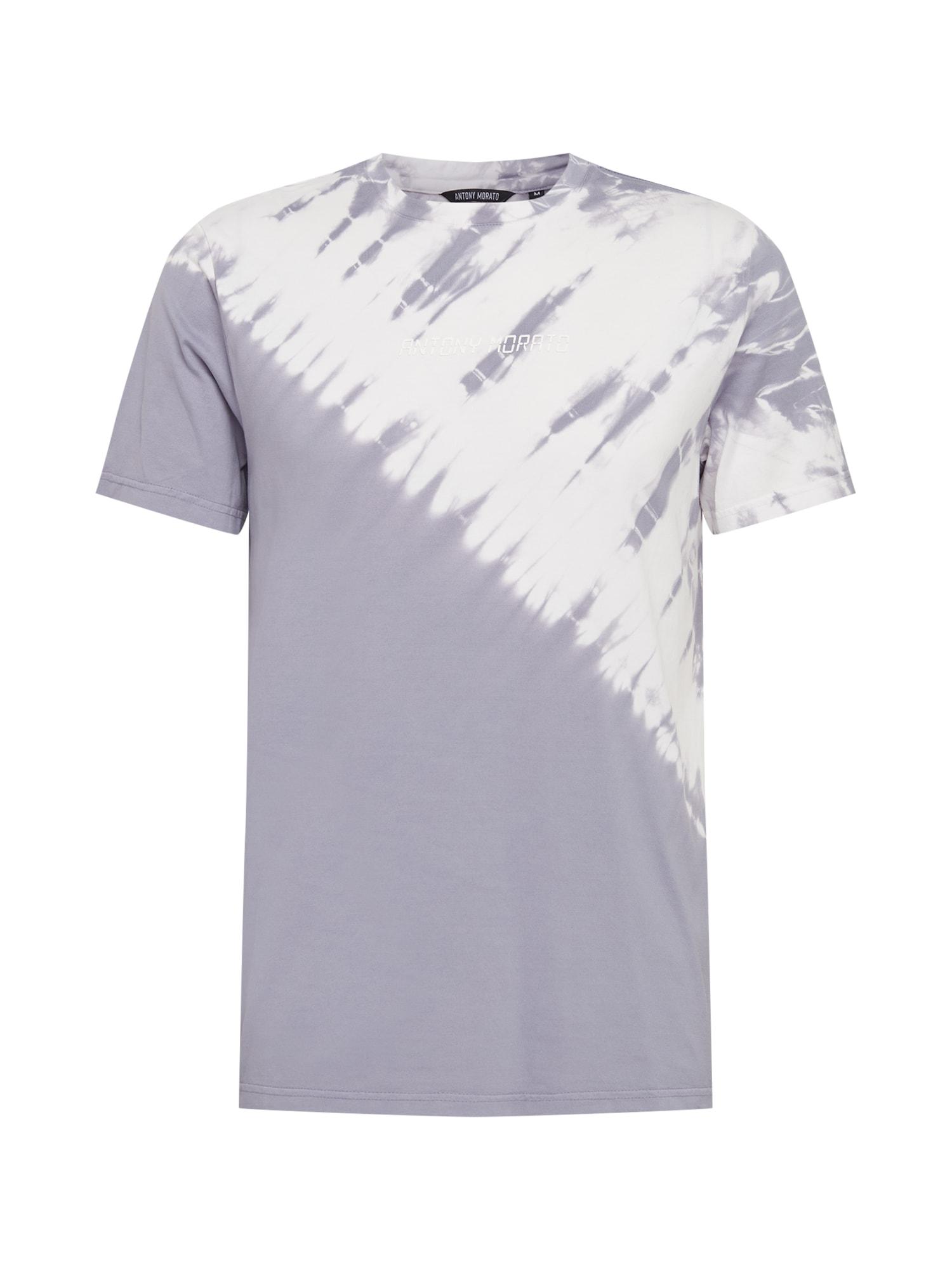 ANTONY MORATO Marškinėliai alyvinė spalva / balta