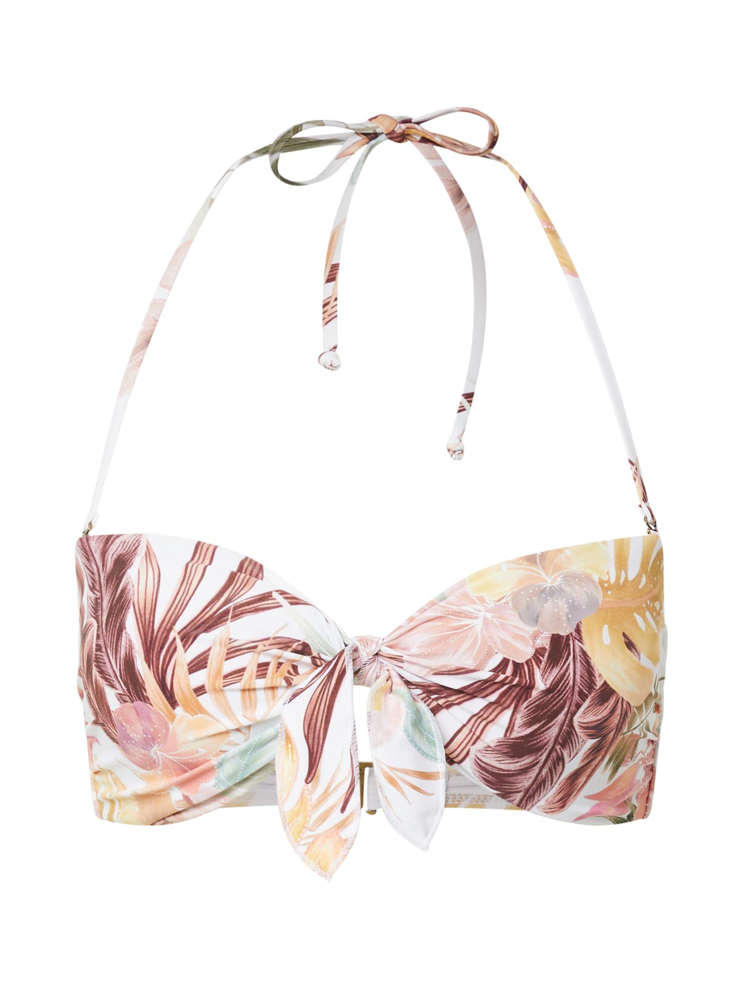 RIP CURL Bikinio viršutinė dalis natūrali balta / ruda / žalia / rožių spalva