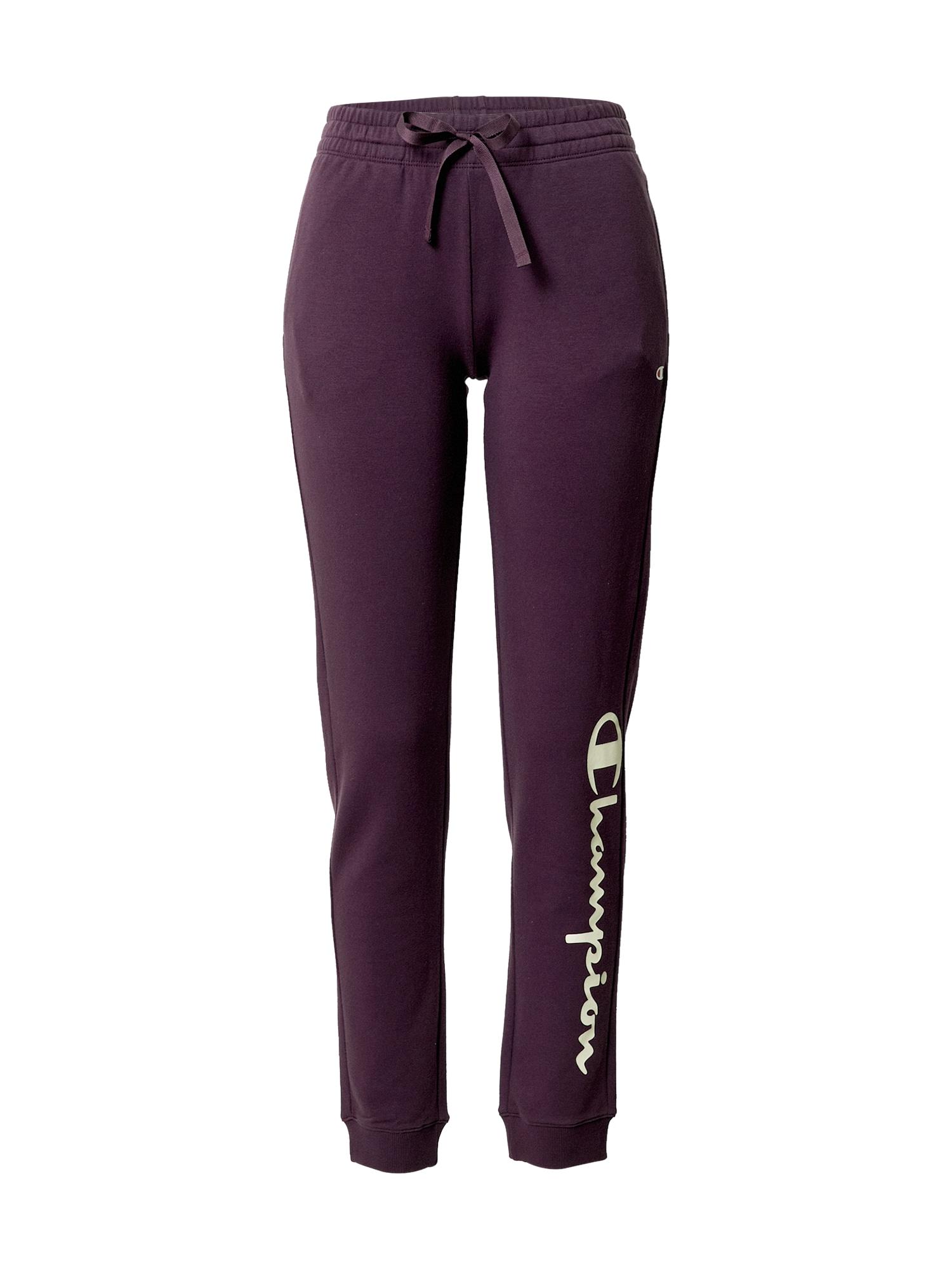 Champion Authentic Athletic Apparel Kalhoty  bílá / tmavě fialová