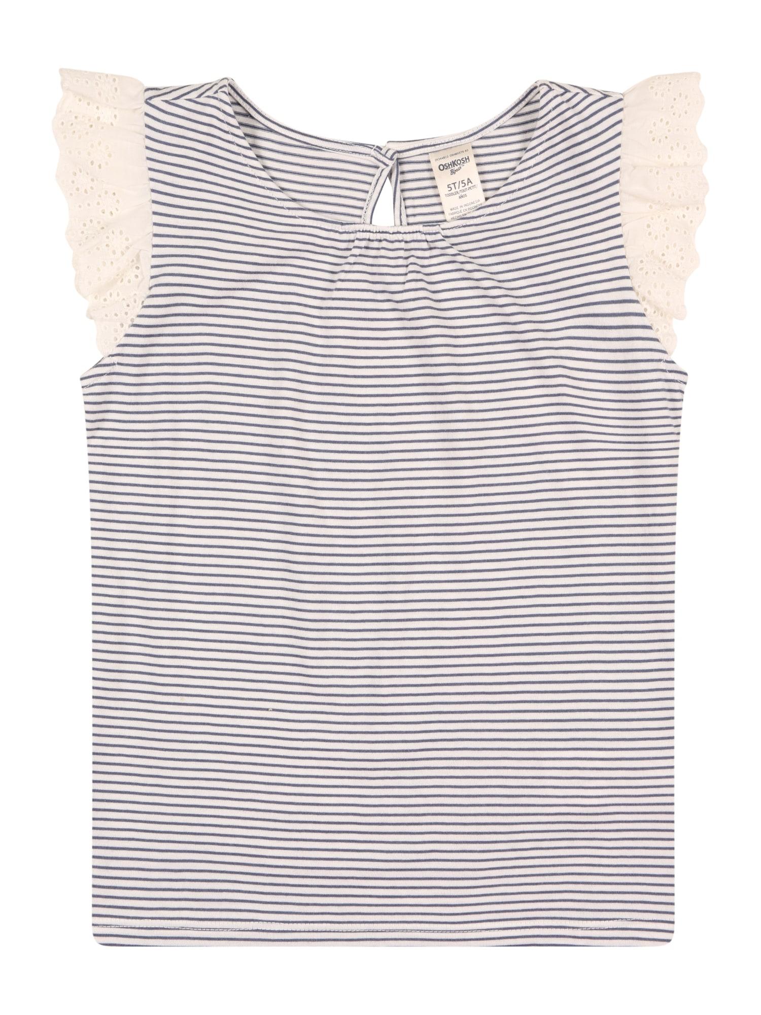 OshKosh Marškinėliai balta / mėlyna