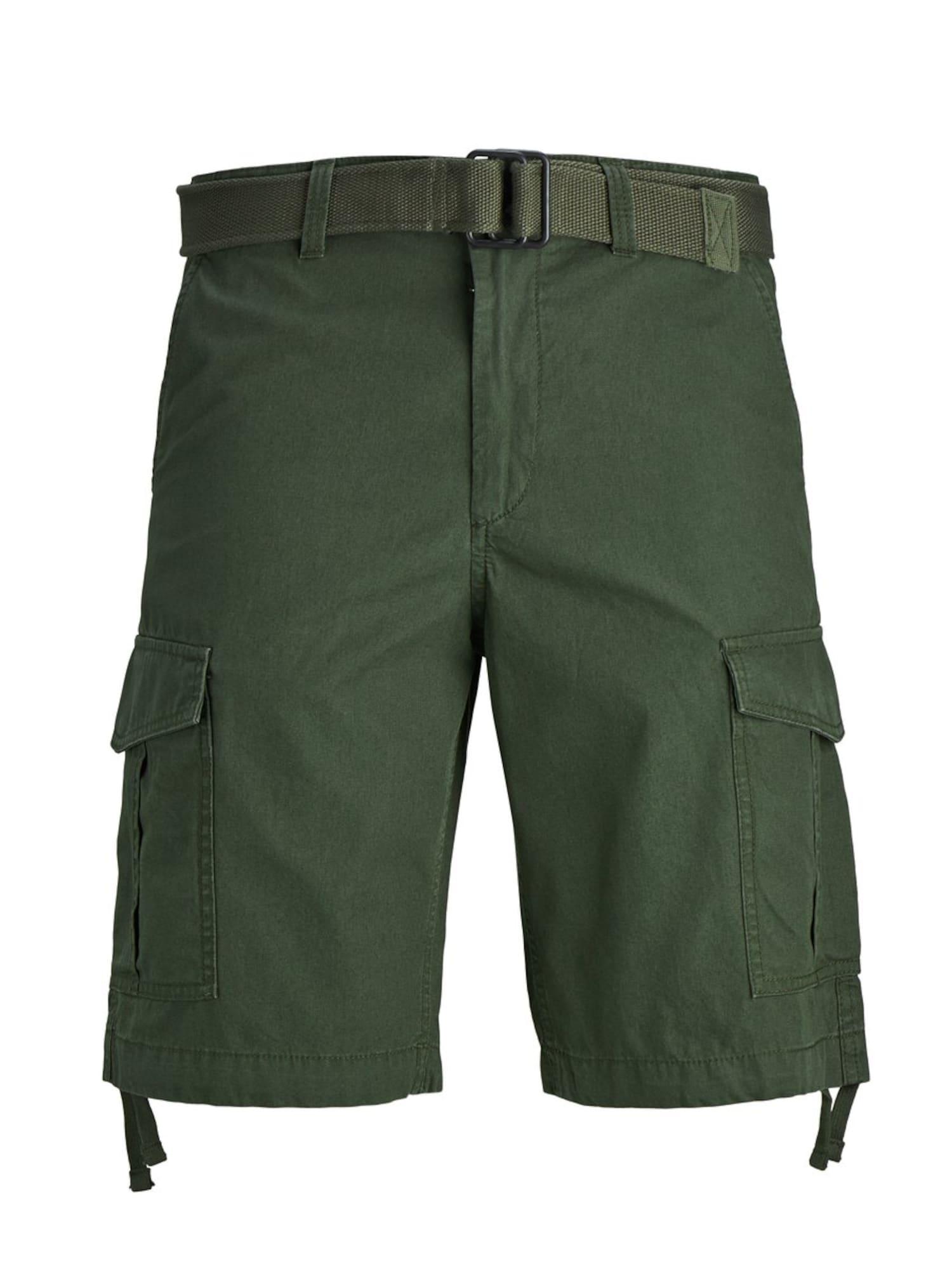 JACK & JONES Laisvo stiliaus kelnės 'CHARLIE' tamsiai žalia