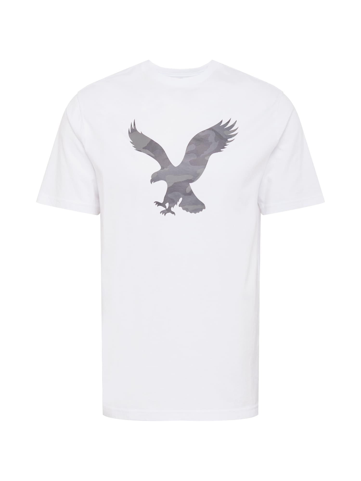 American Eagle Marškinėliai balta / pilka