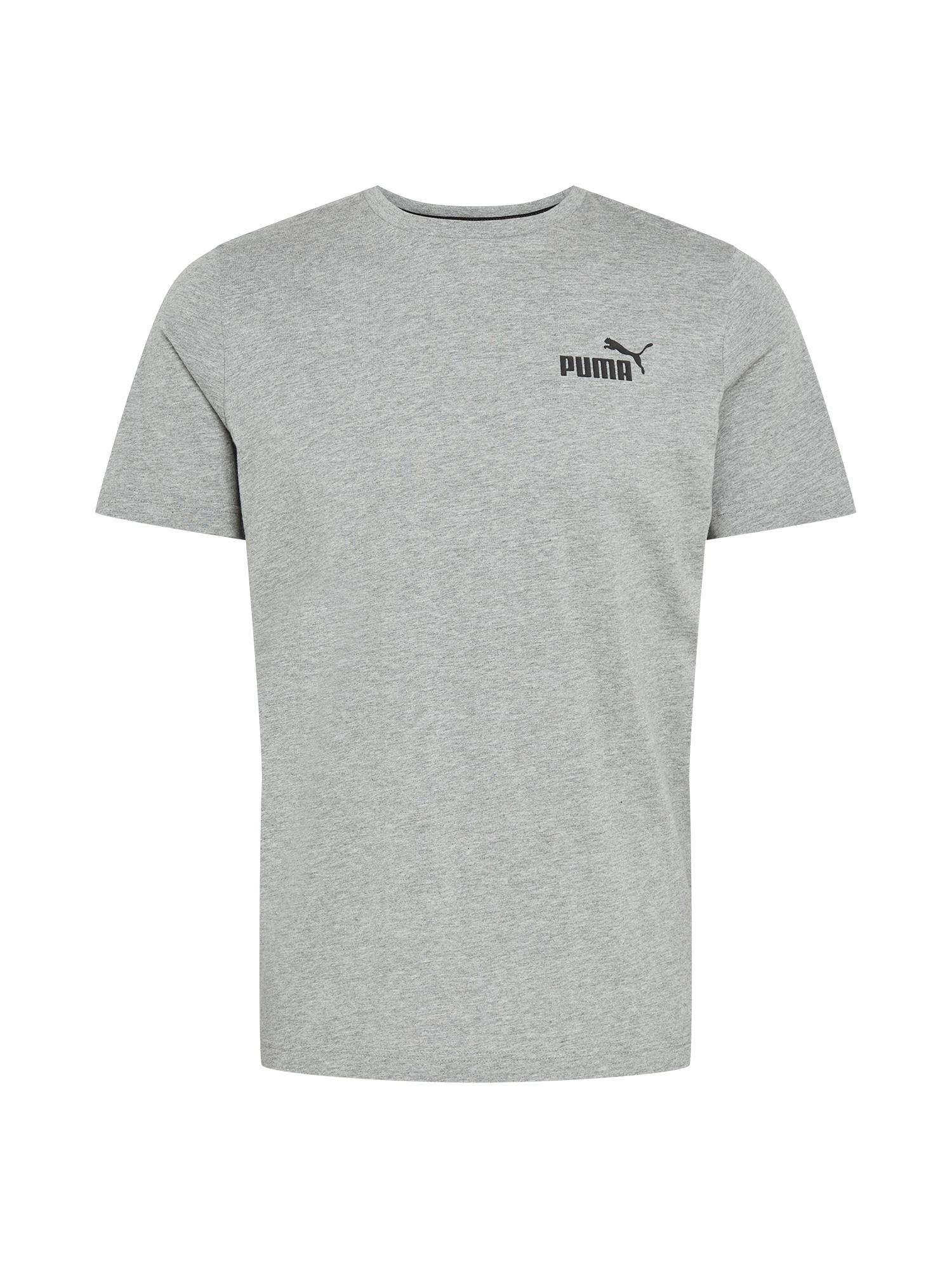 PUMA Sportiniai marškinėliai margai pilka / juoda