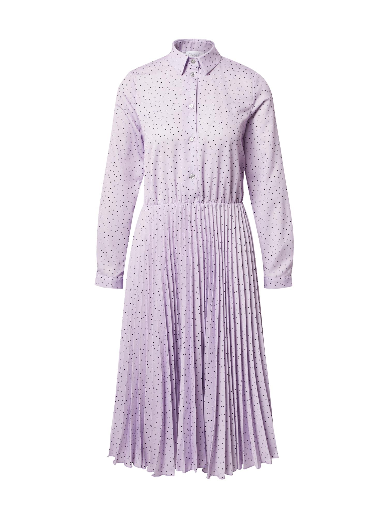 Closet London Palaidinės tipo suknelė alyvinė spalva / juoda