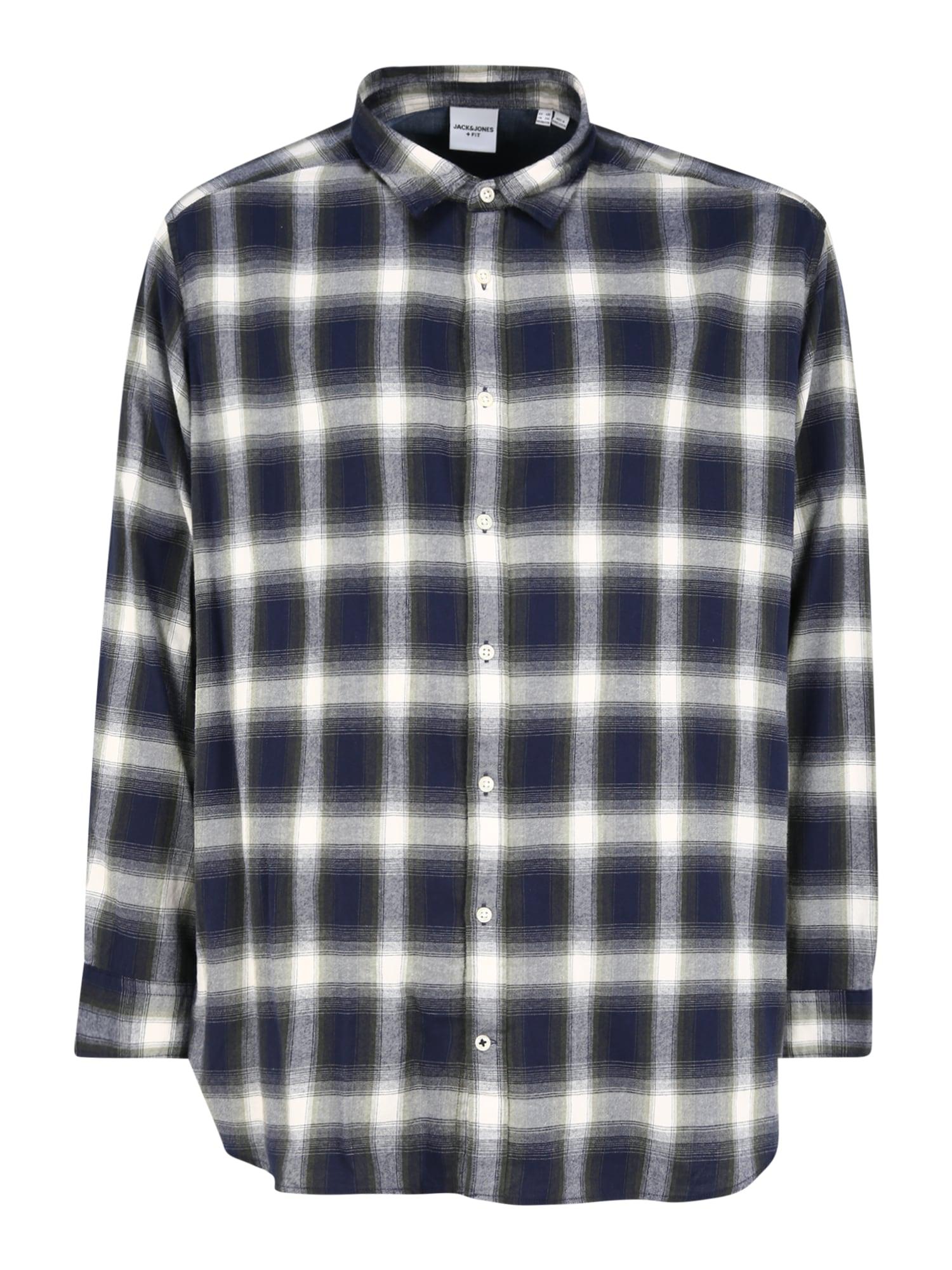 Jack & Jones Plus Marškiniai mėlyna / balta / pilka / žalia